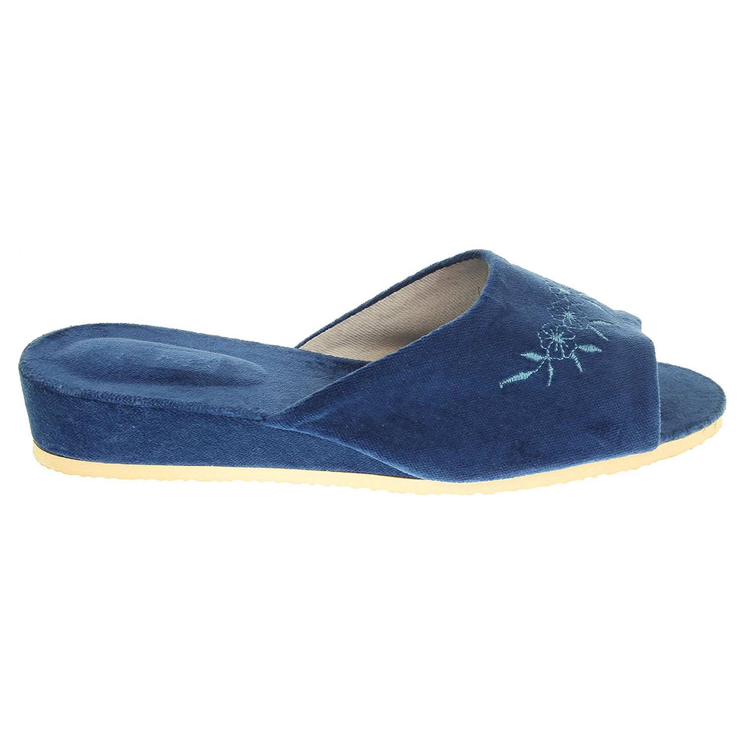 Ecco Domácí pantofle dámské 1030.00 modrá 23500305