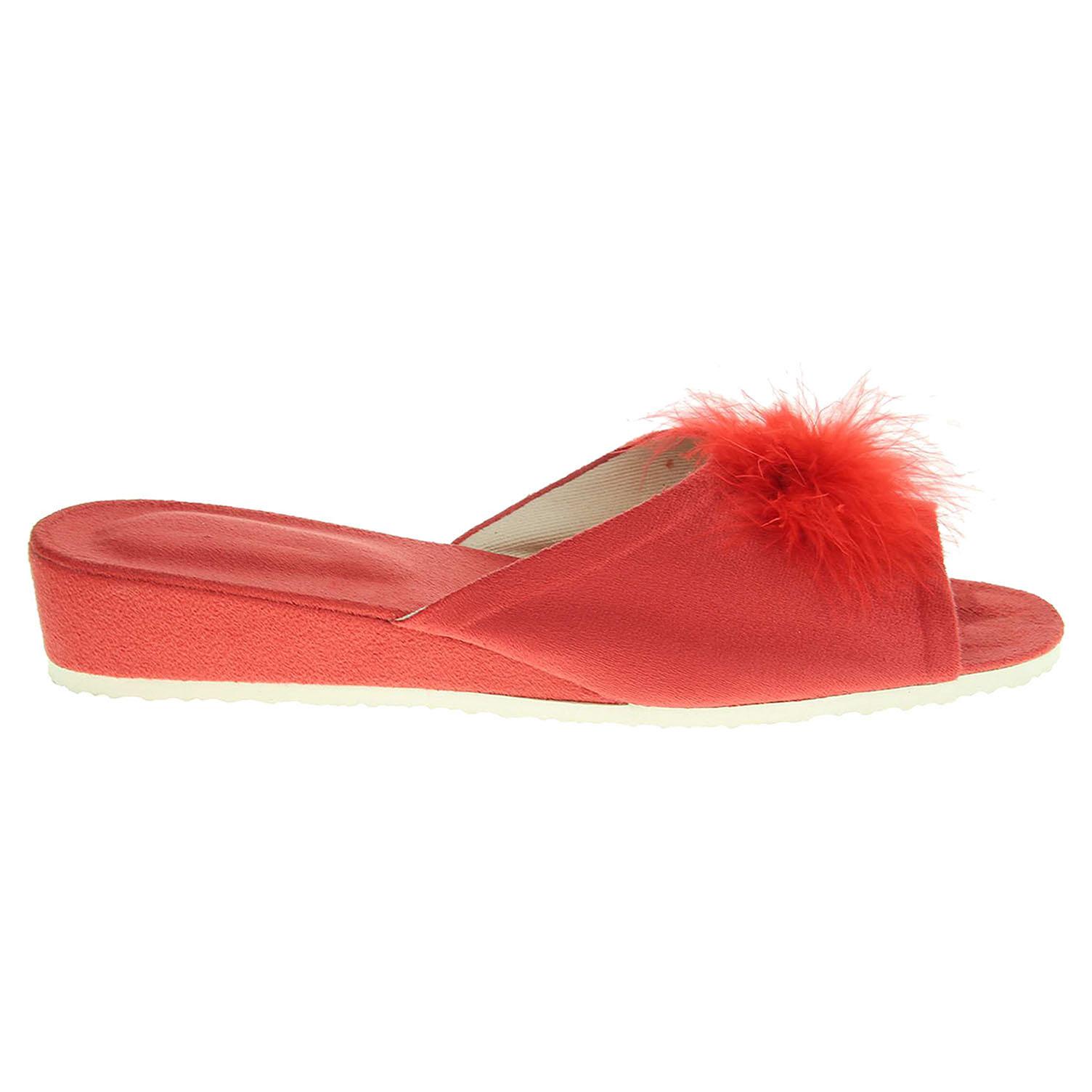 Ecco Domácí dámské pantofle 1031.00 červené 23500429