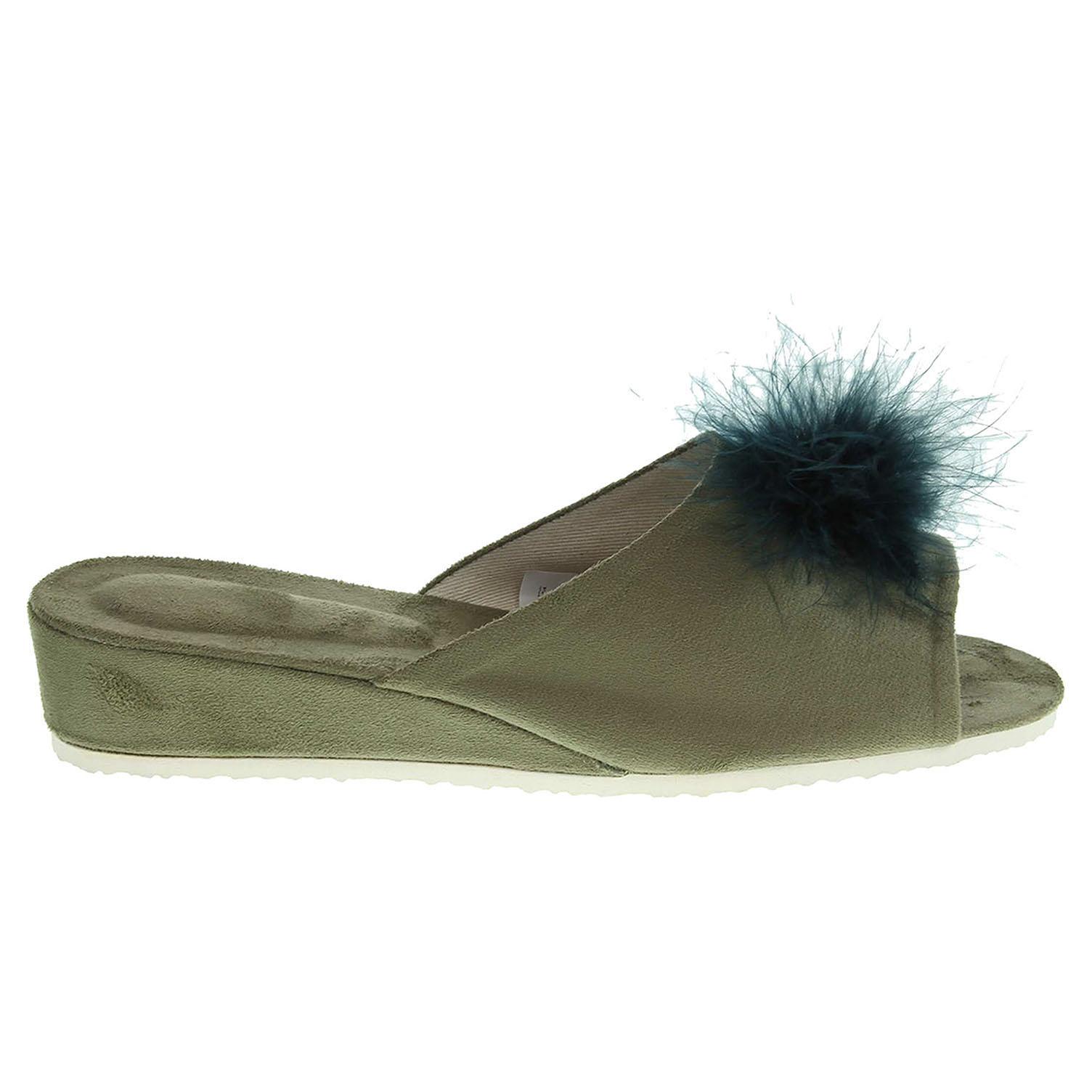 Dámské domácí pantofle 1031.00 zelené 38