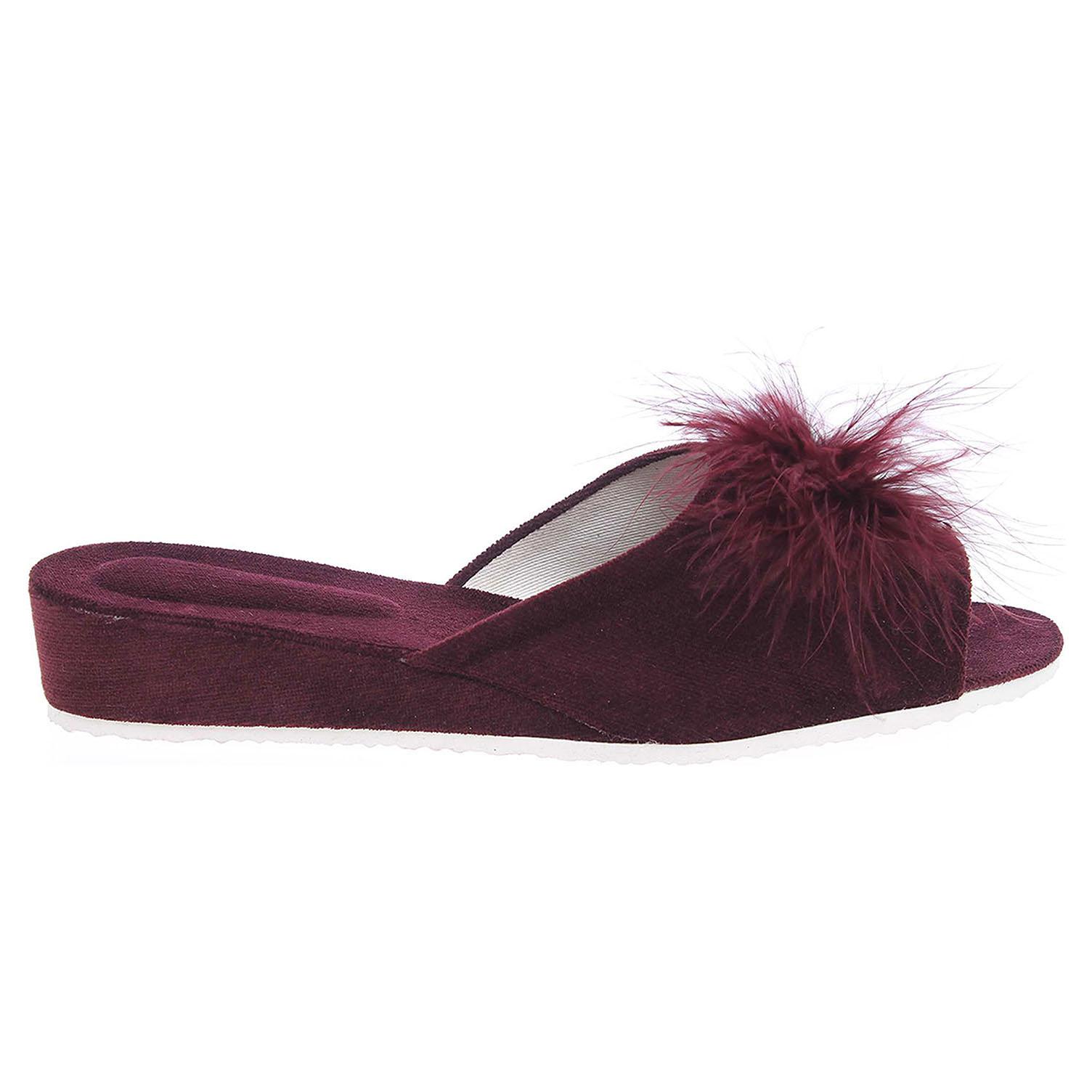 Ecco Domácí dámské pantofle 1031.00 vínové 23500431