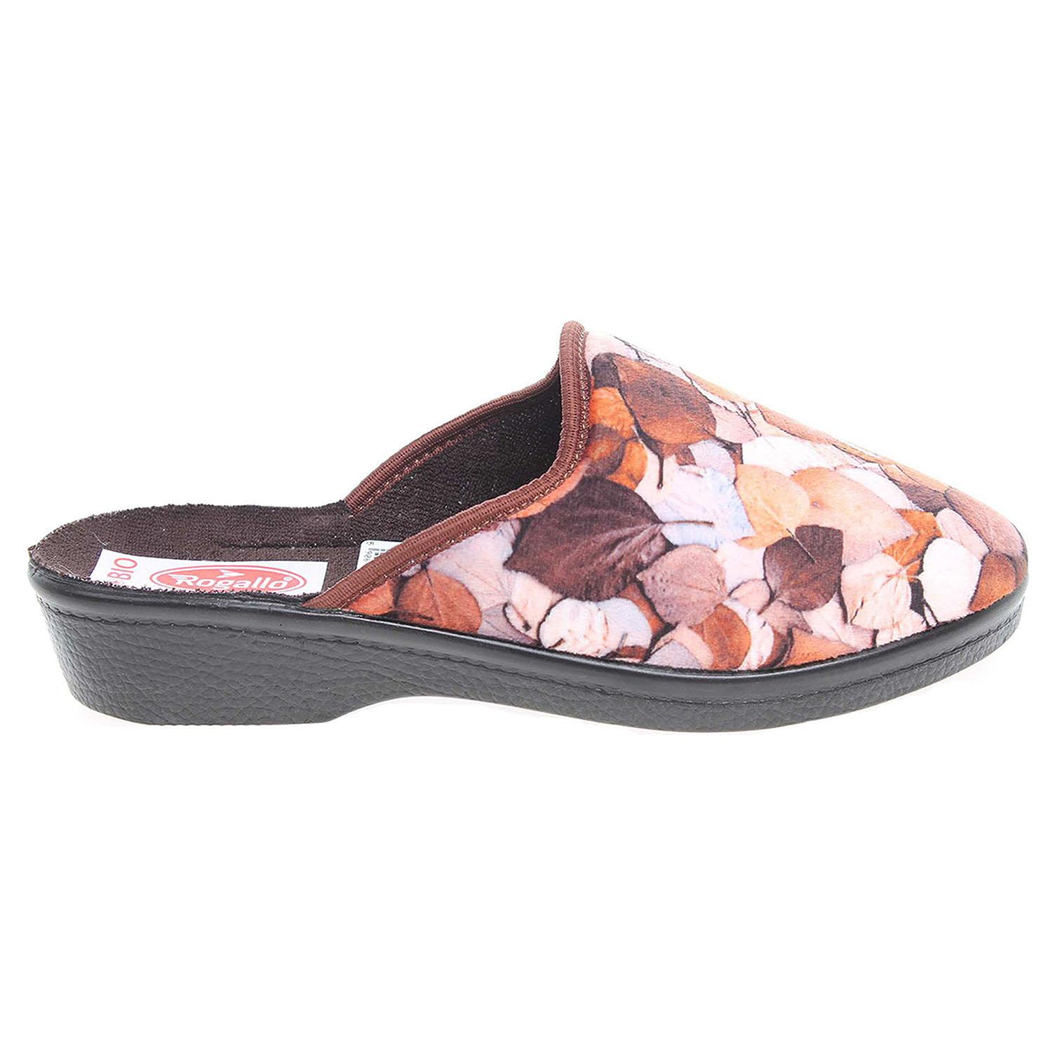 Rogallo dámské pantofle 21017 hnědé 41