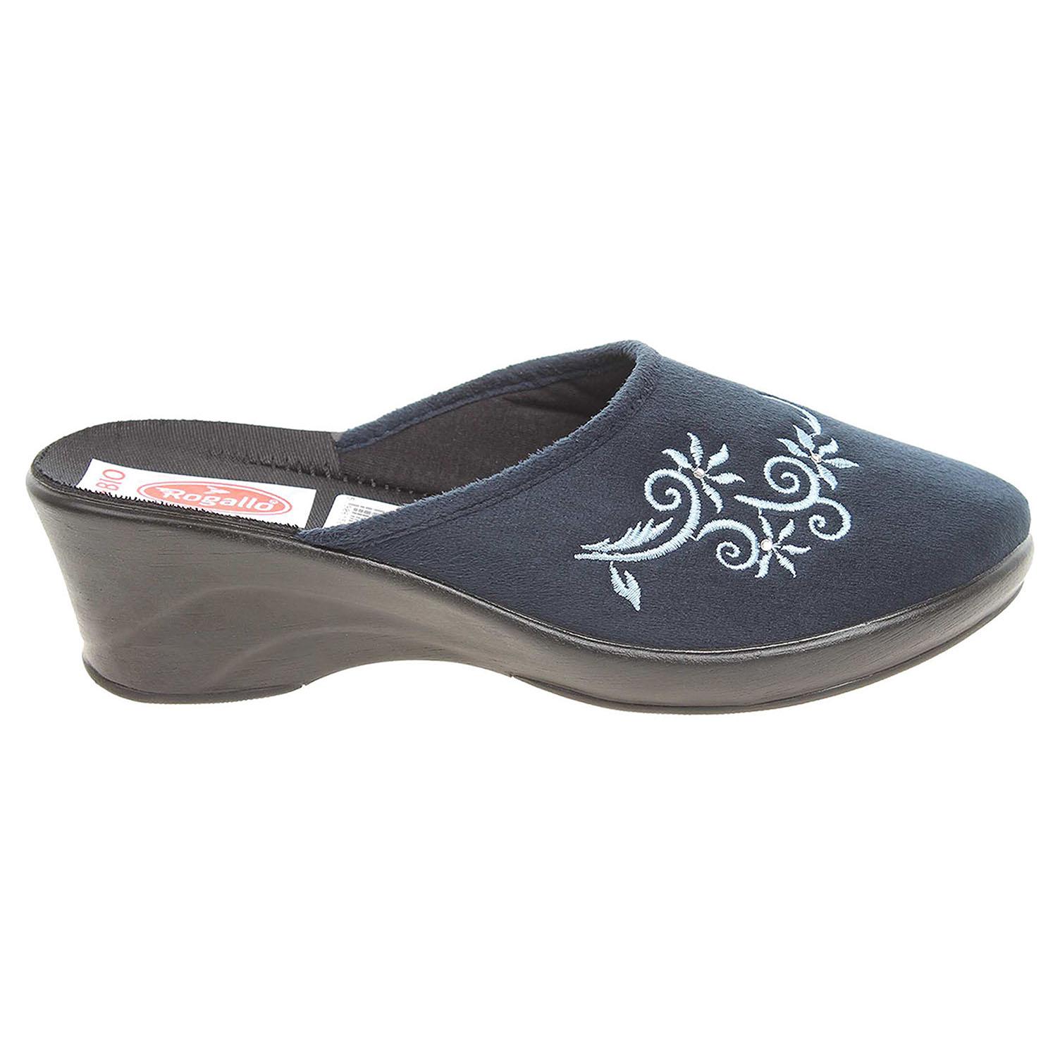 Ecco Rogallo domácí pantofle 21049 modré 23500444