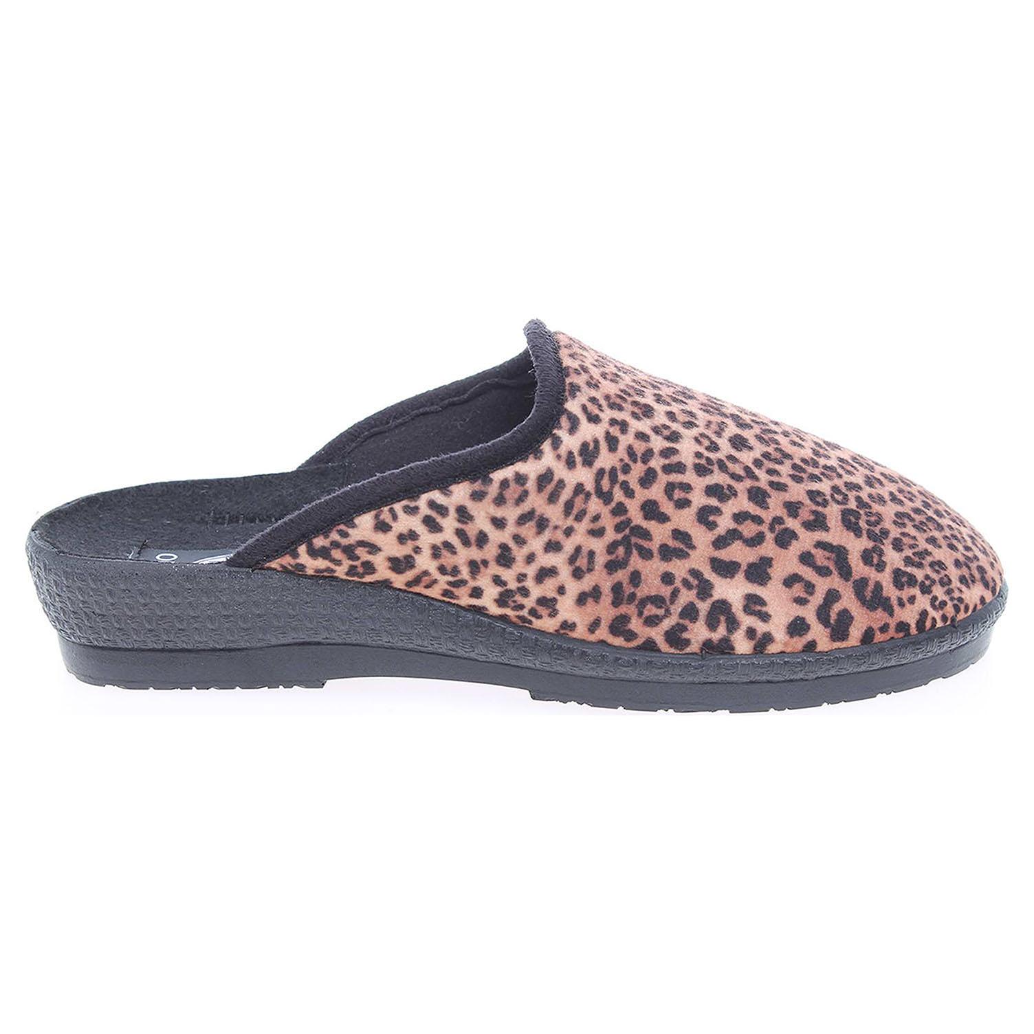 Rogallo dámské pantofle 3360-029 hnědé 41