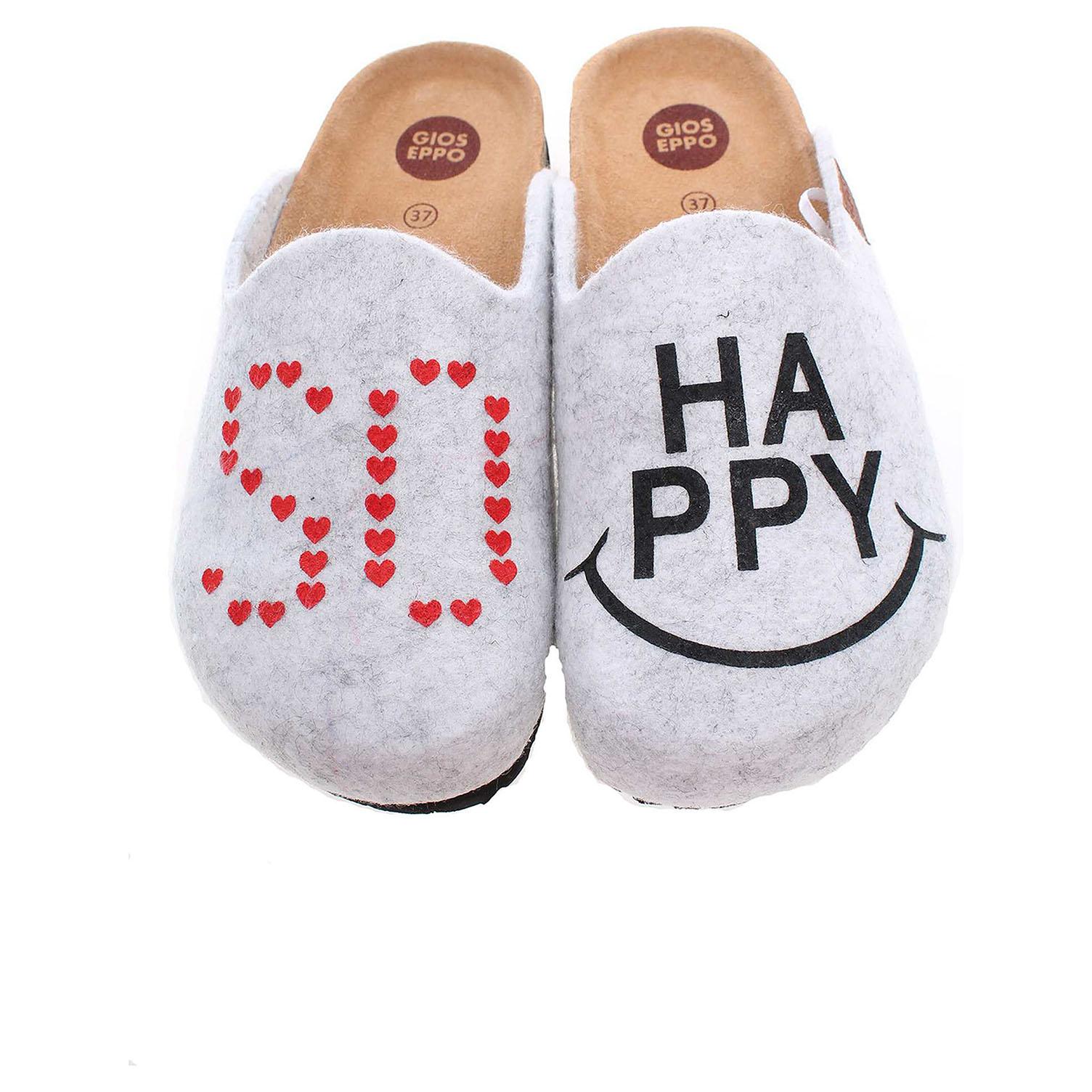 Gioseppo Cheery dámské domácí pantofle šedé 41