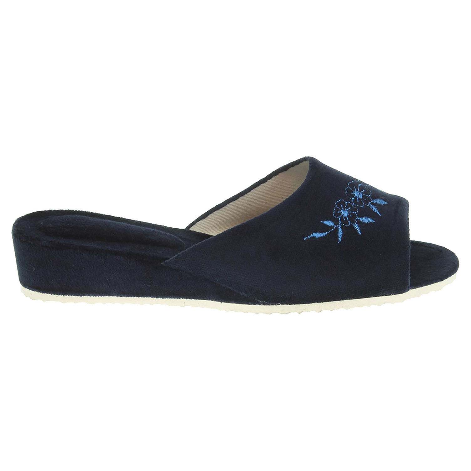 Ecco Dámské domácí pantofle 1030.00 modré 23500475
