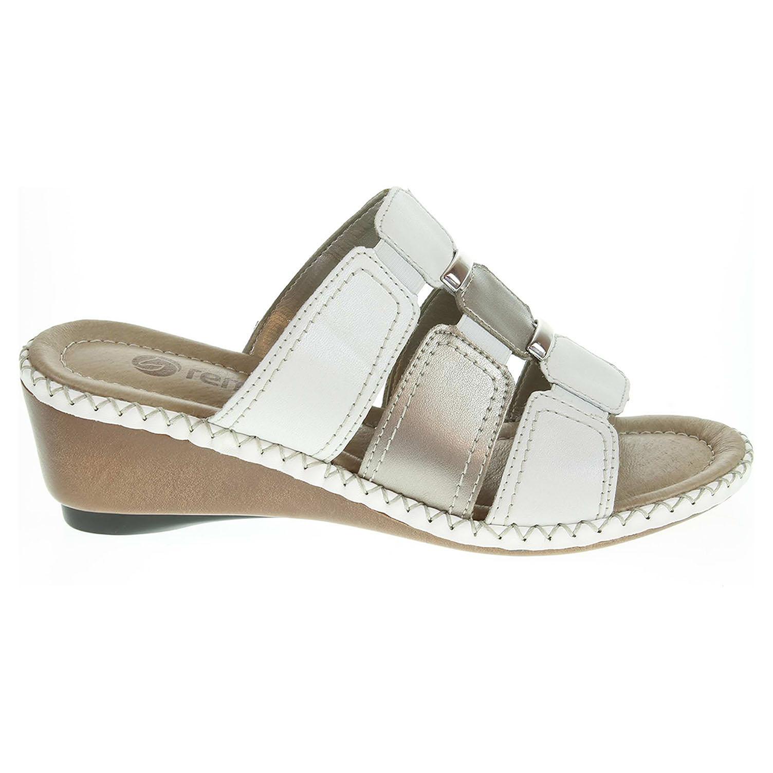 Ecco Remonte dámské pantofle D6153-80 bílé 23600678