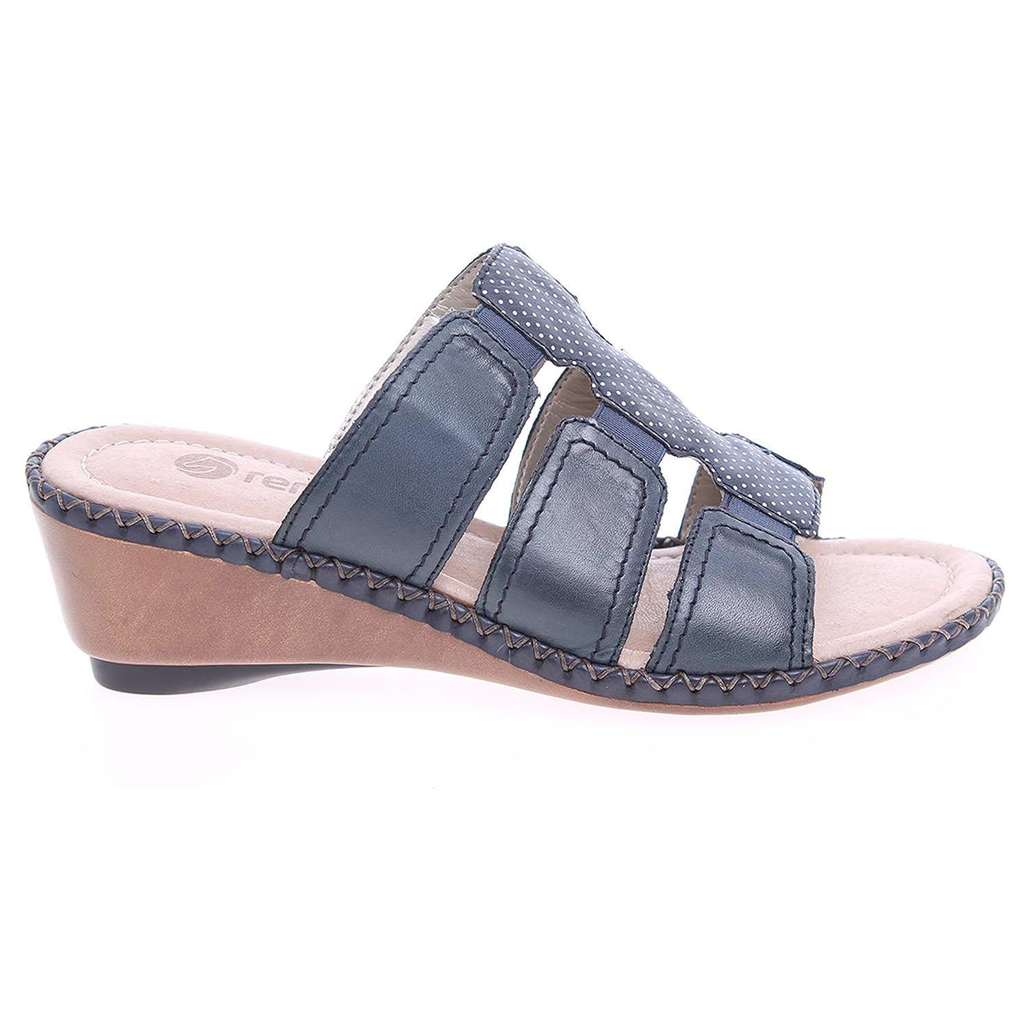 Ecco Remonte dámské pantofle D6162-14 modré 23600709