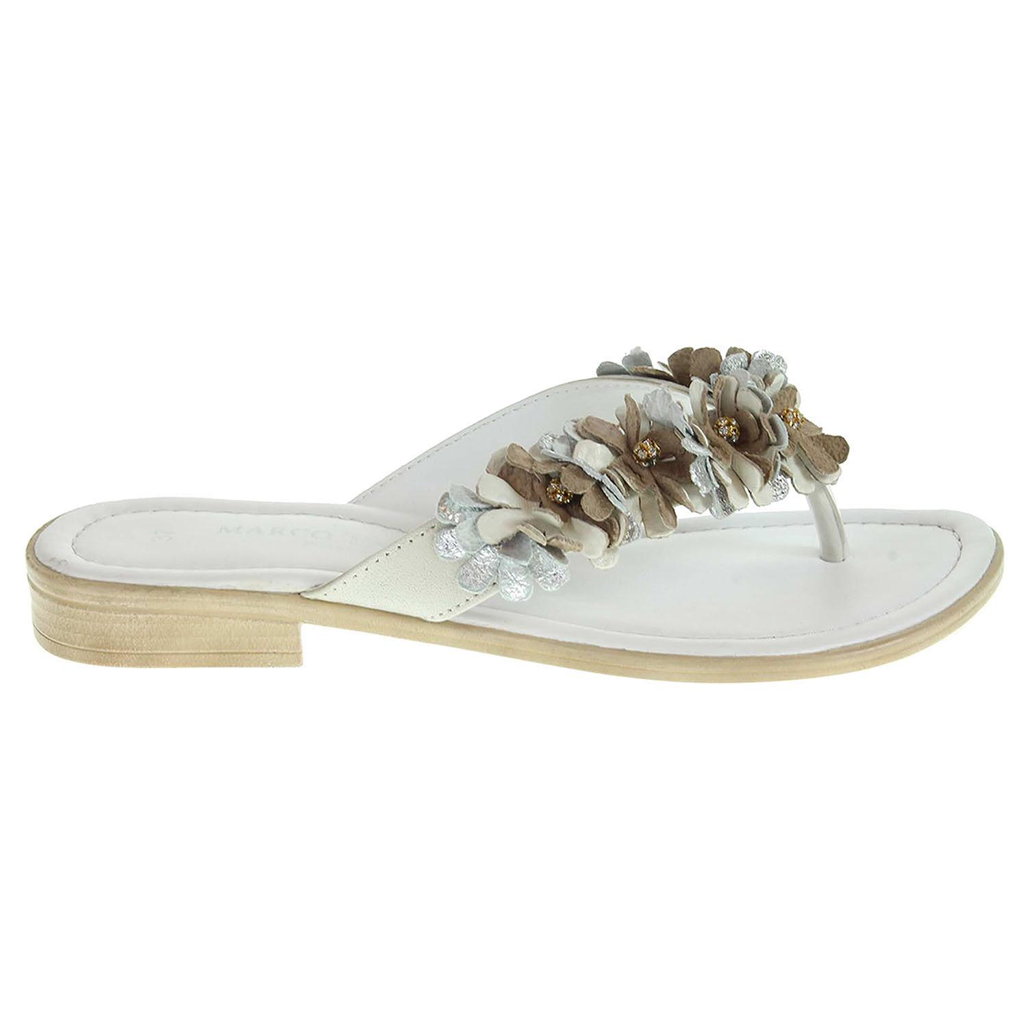 Ecco Marco Tozzi dámské pantofle 2-27107-26 bílé 23600725