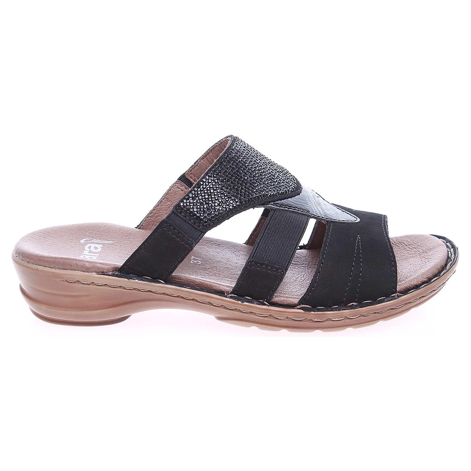 Ecco Ara dámské pantofle 37238-01 černé 23600733