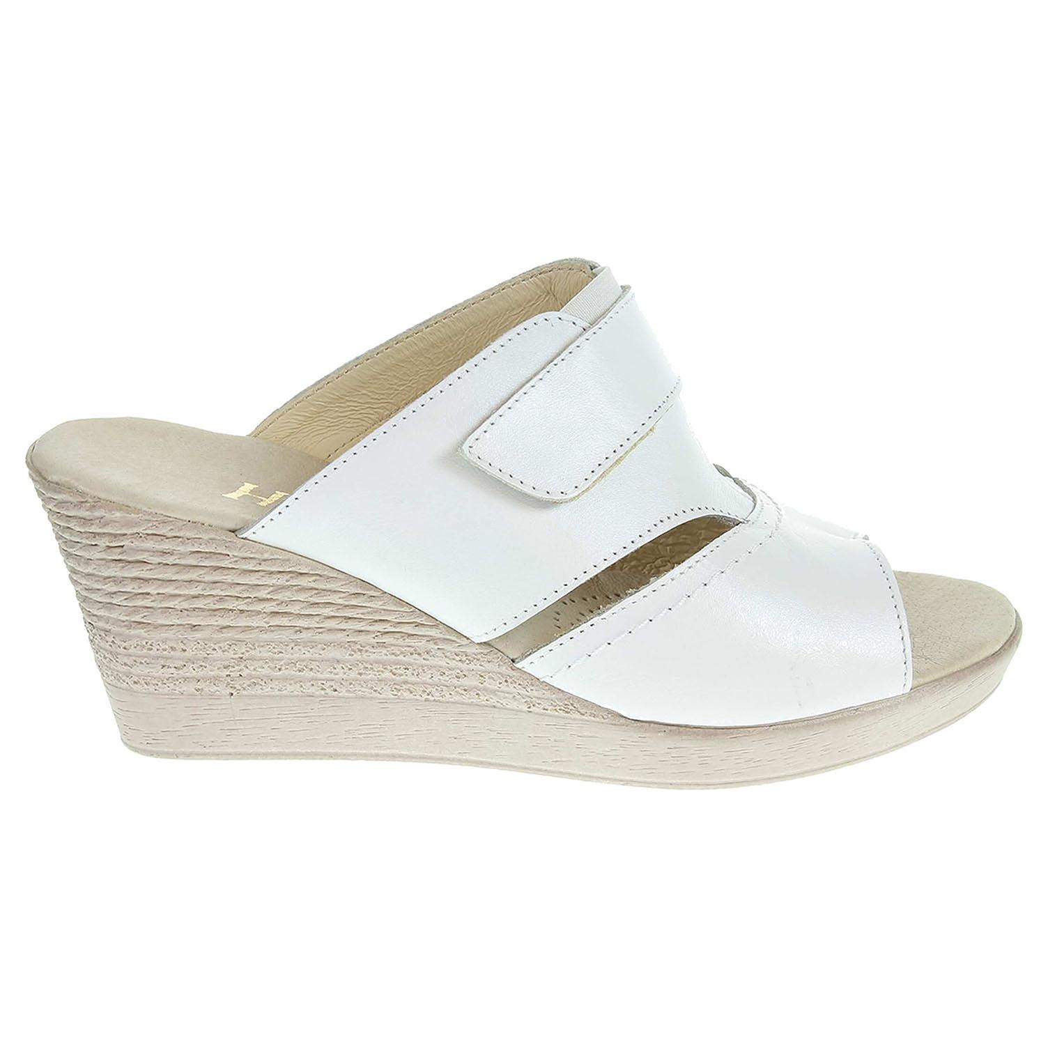 Ecco Dámské pantofle J3436 bílé 23600740