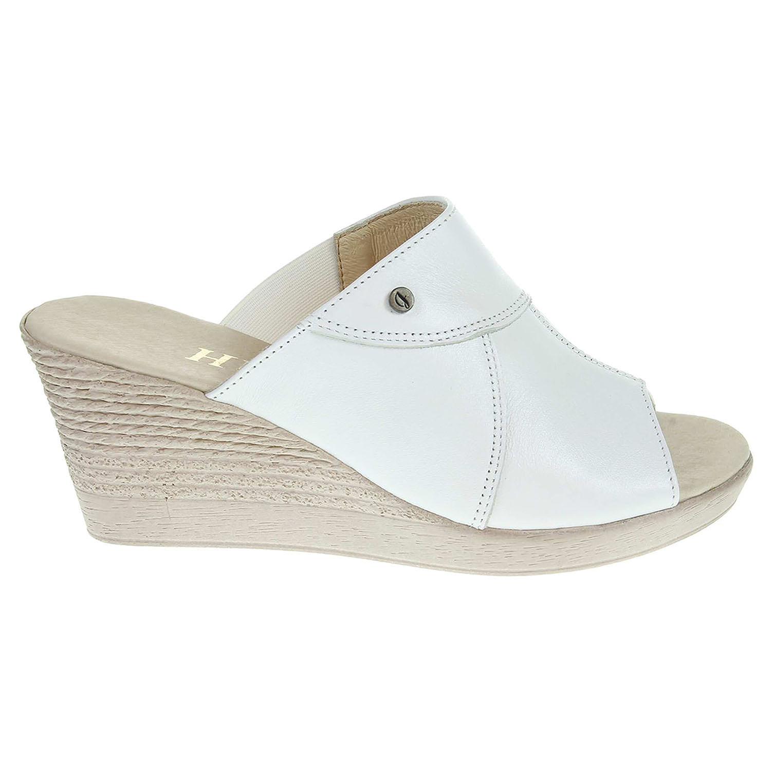 Ecco Dámské pantofle J3440 bílé 23600741