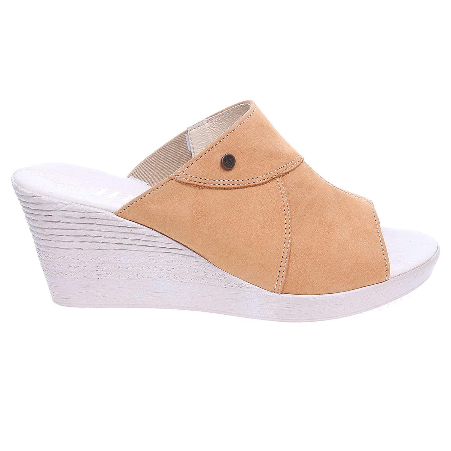 Ecco Dámské pantofle J3440 žluté 23600742