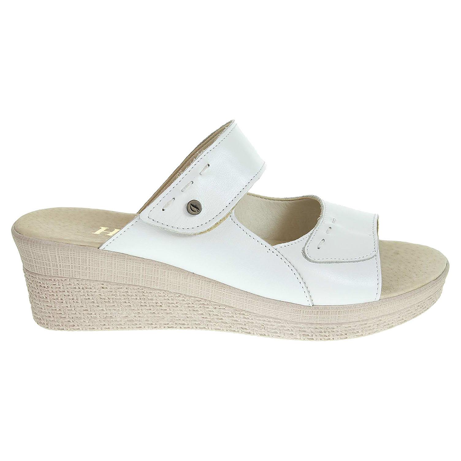 Dámské pantofle J3439 bílé 41