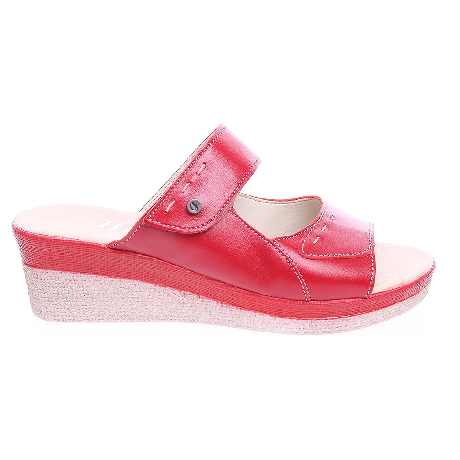 Dámské pantofle J3439 červené 41