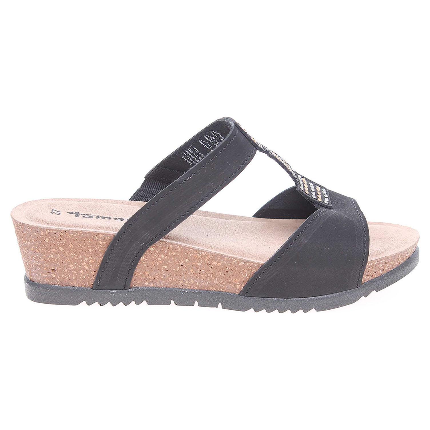 Ecco Tamaris dámské pantofle 1-27214-28 černé 23600758