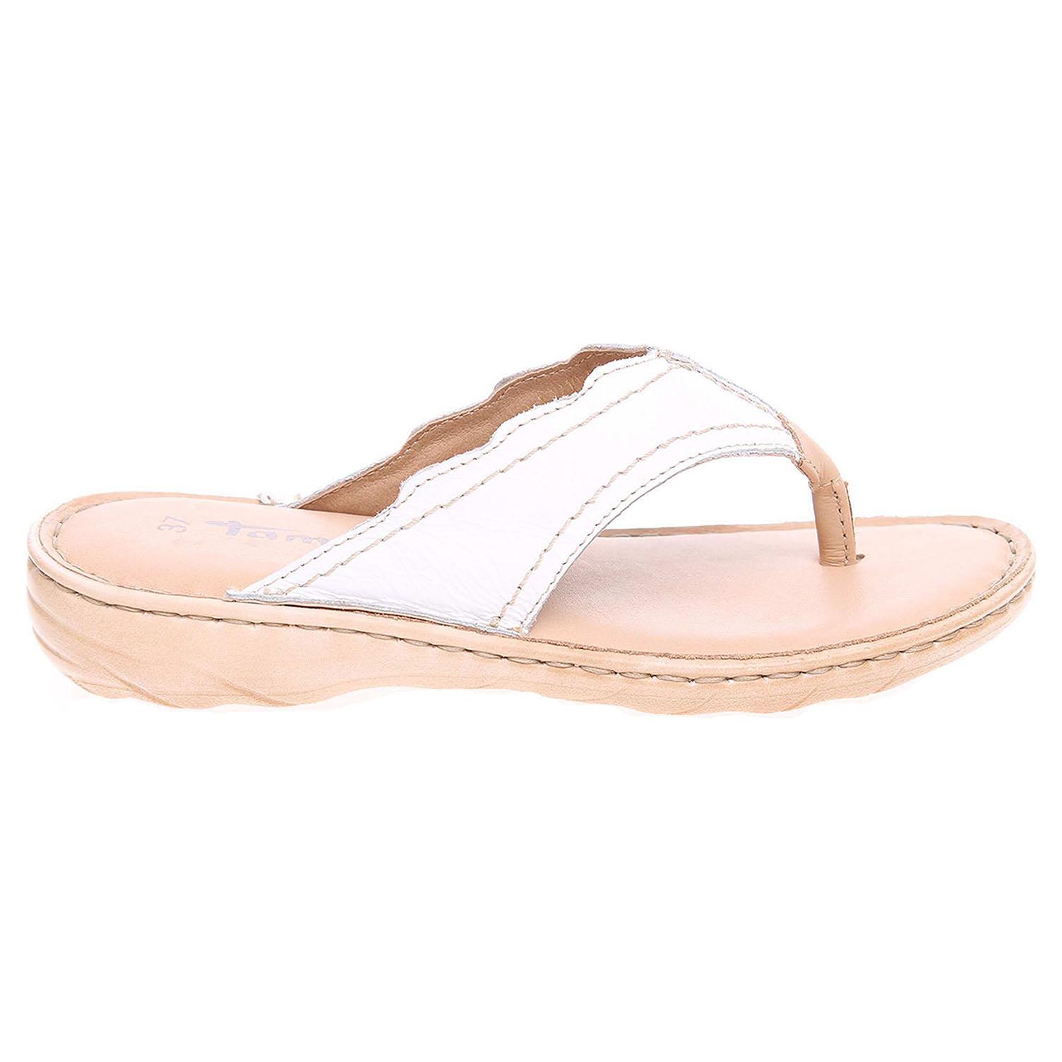 Ecco Tamaris dámské pantofle 1-27210-28 bílá-béžová 23600759