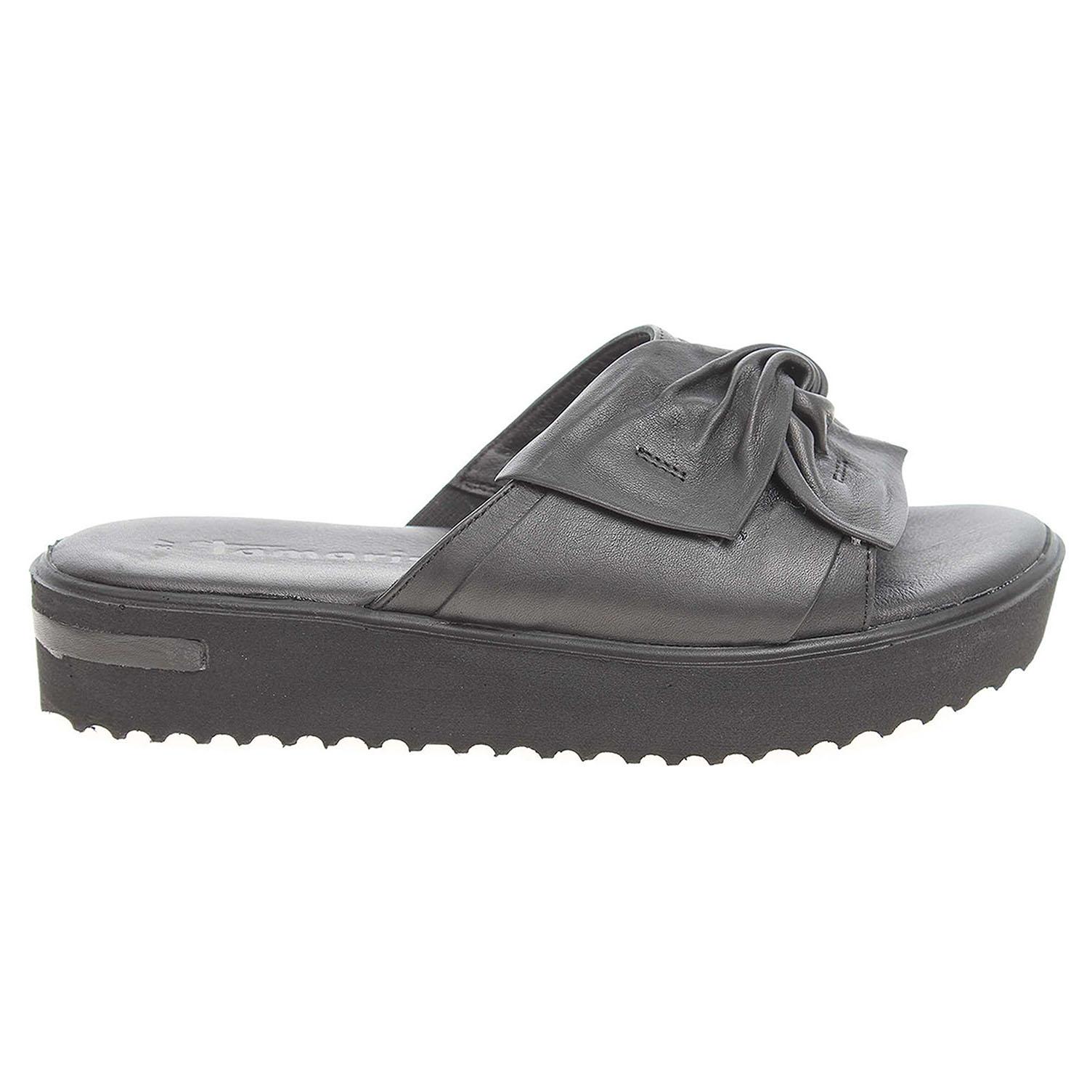 Ecco Tamaris dámské pantofle 1-27213-28 černé 23600771