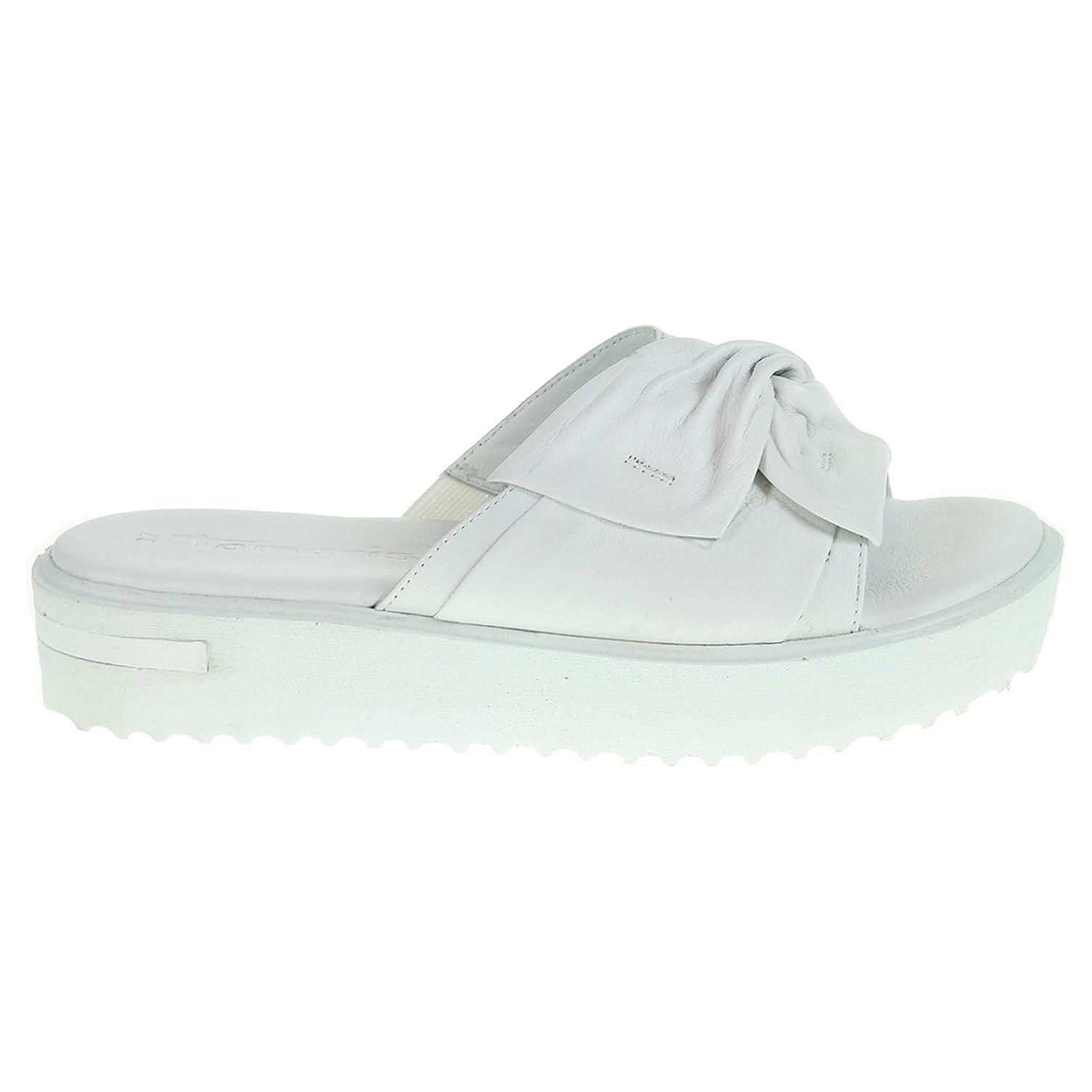 Ecco Tamaris dámské pantofle 1-27213-28 bílé 23600772