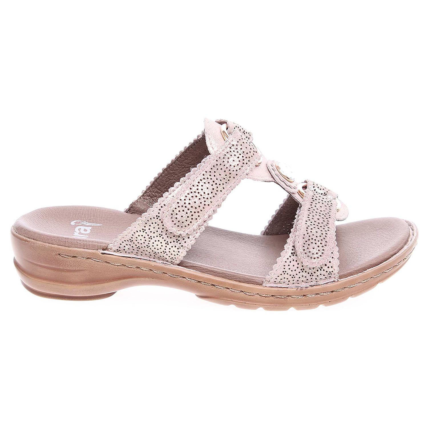 Ecco Ara dámské pantofle 37244-11 zlaté 23600774