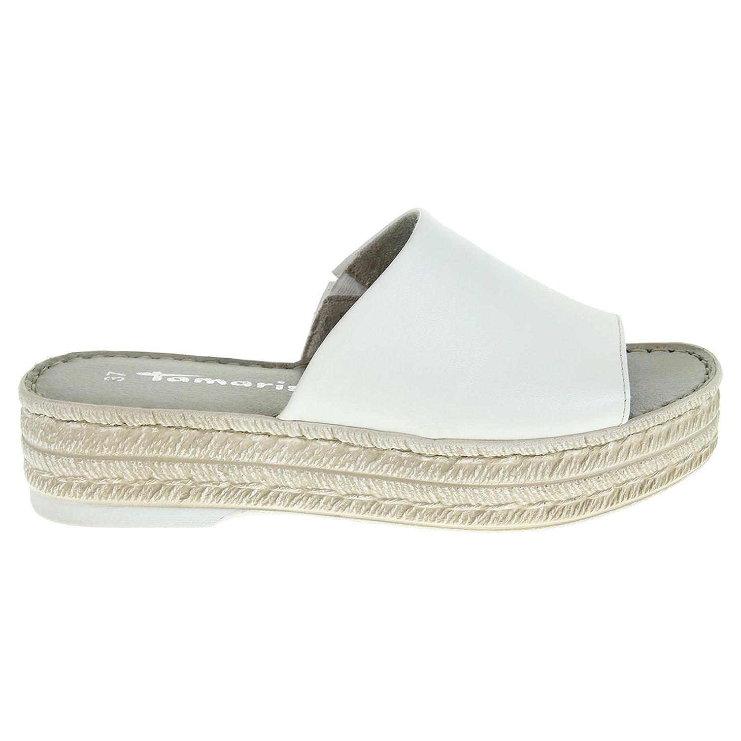 Ecco Tamaris dámské pantofle 1-27205-28 bílé 23600786