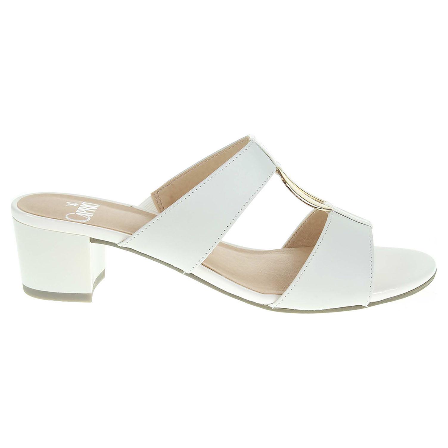 Ecco Caprice dámské pantofle 9-27210-28 bílé 23600797
