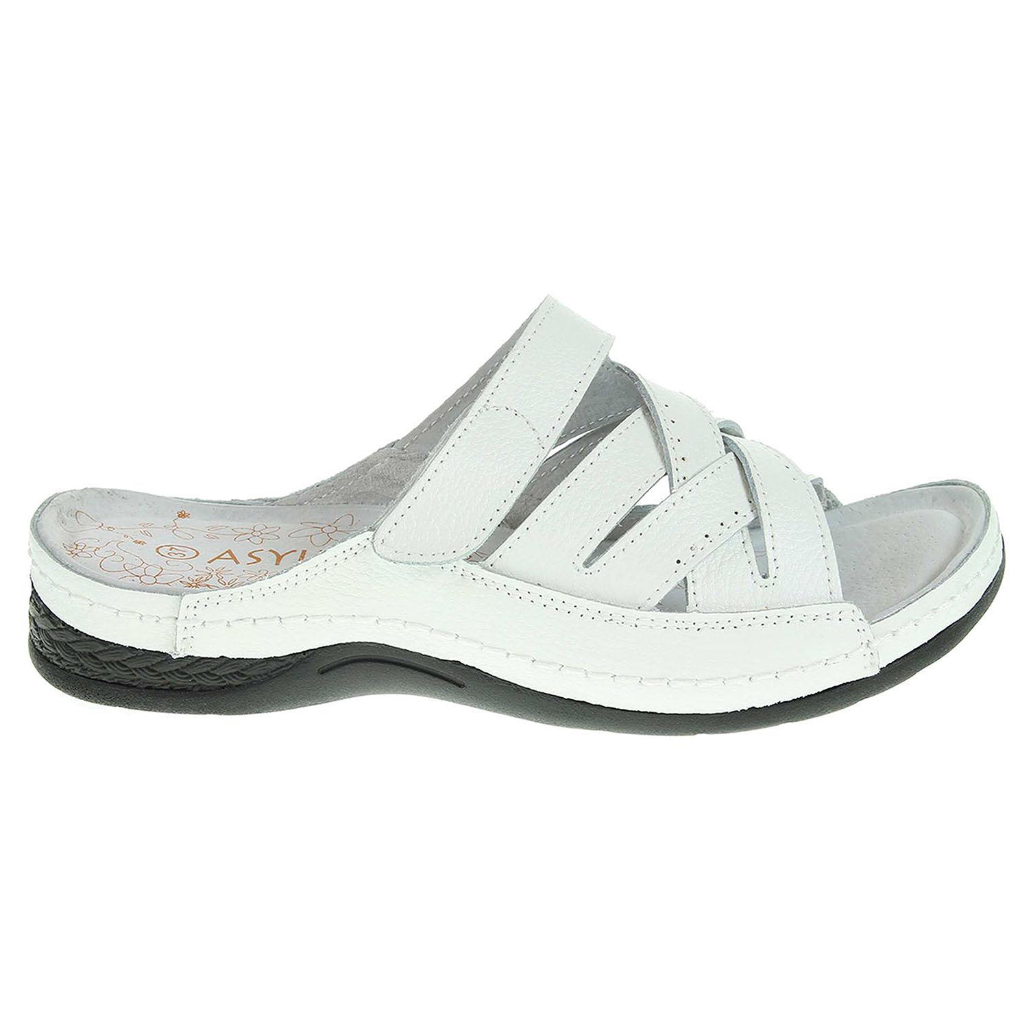 Ecco Asylum dámské pantofle AU-211-13-01 bílé 23600802