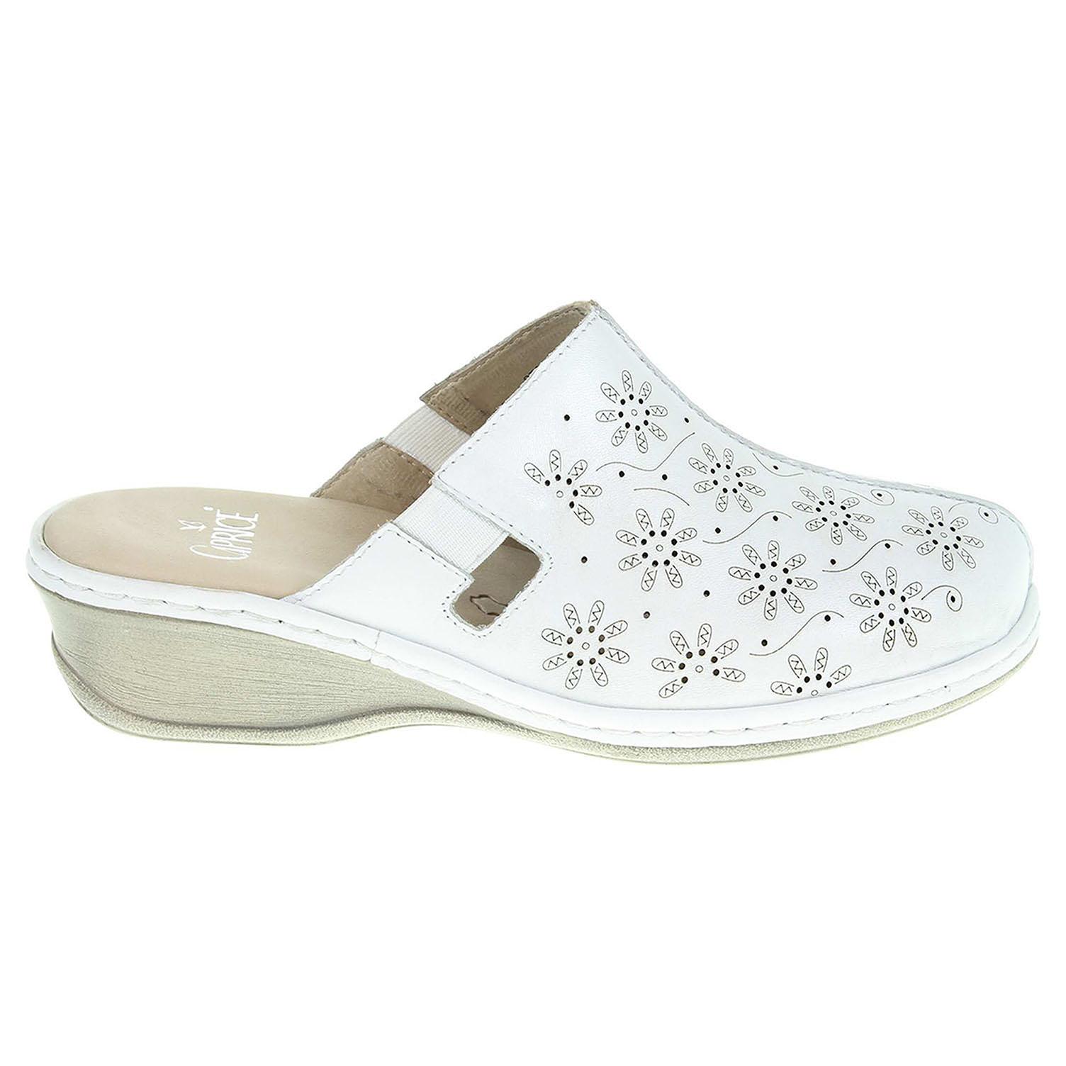 Ecco Caprice dámské pantofle 9-27350-28 bílé 23600803