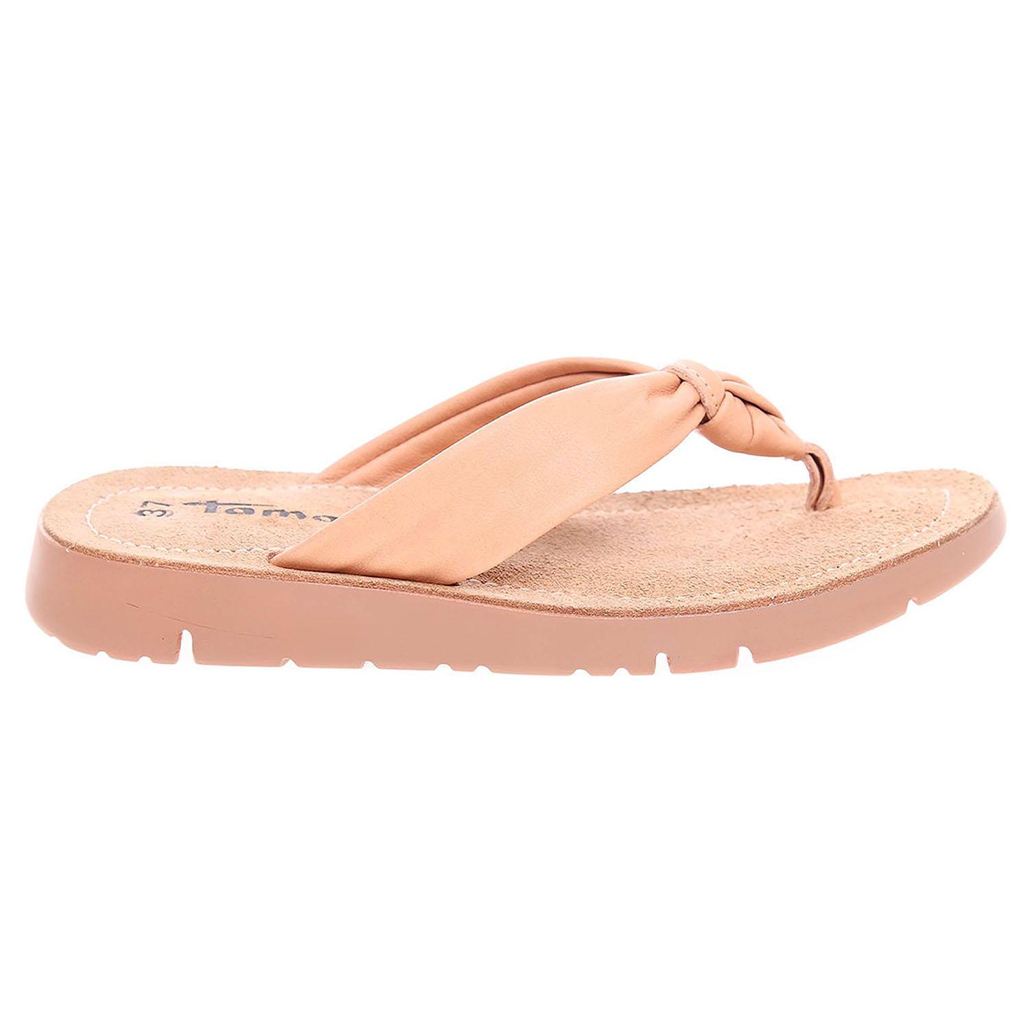 Ecco Tamaris dámské pantofle 1-27124-38 béžové 23600806
