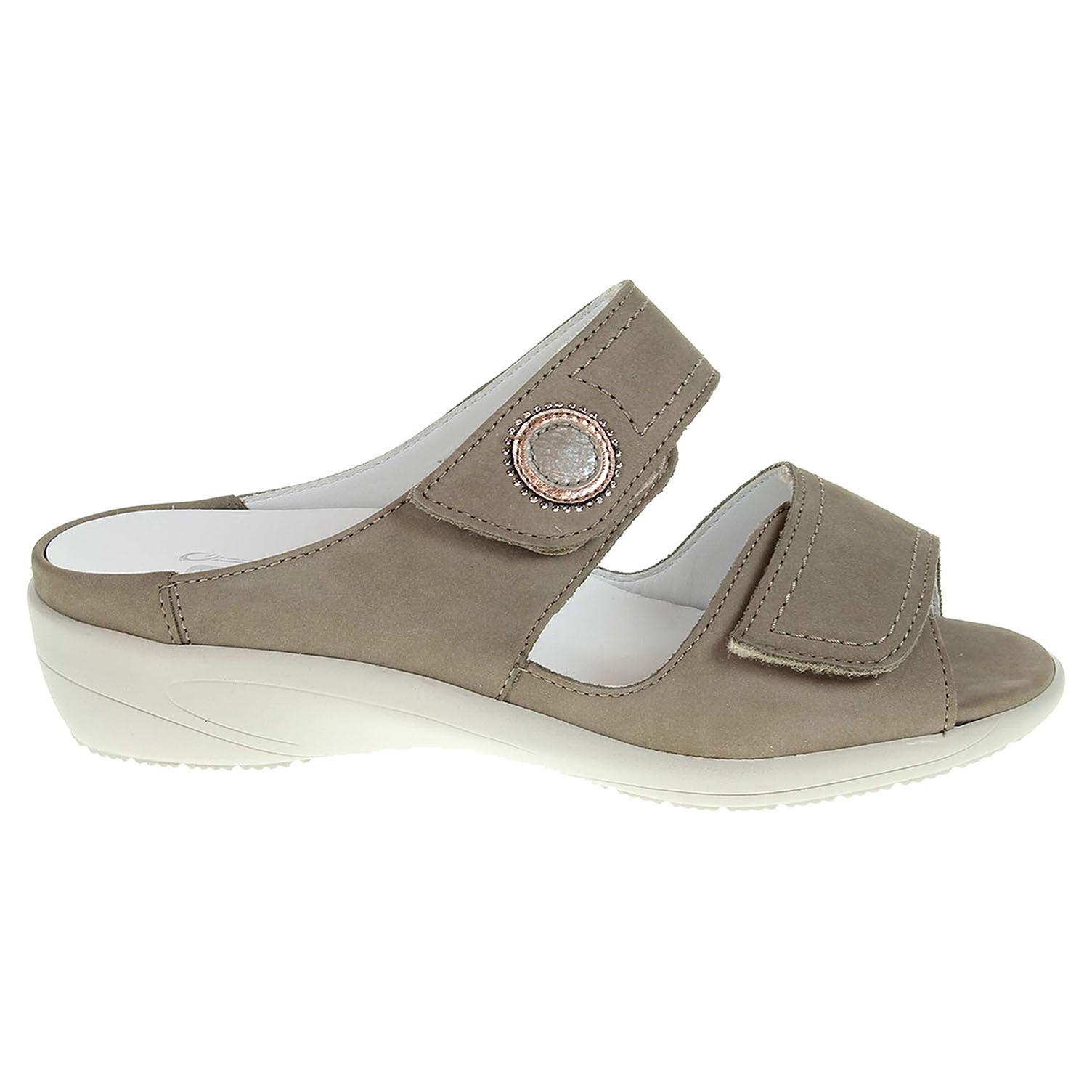 Ecco Ara dámské pantofle 37580-06 šedé 23600809