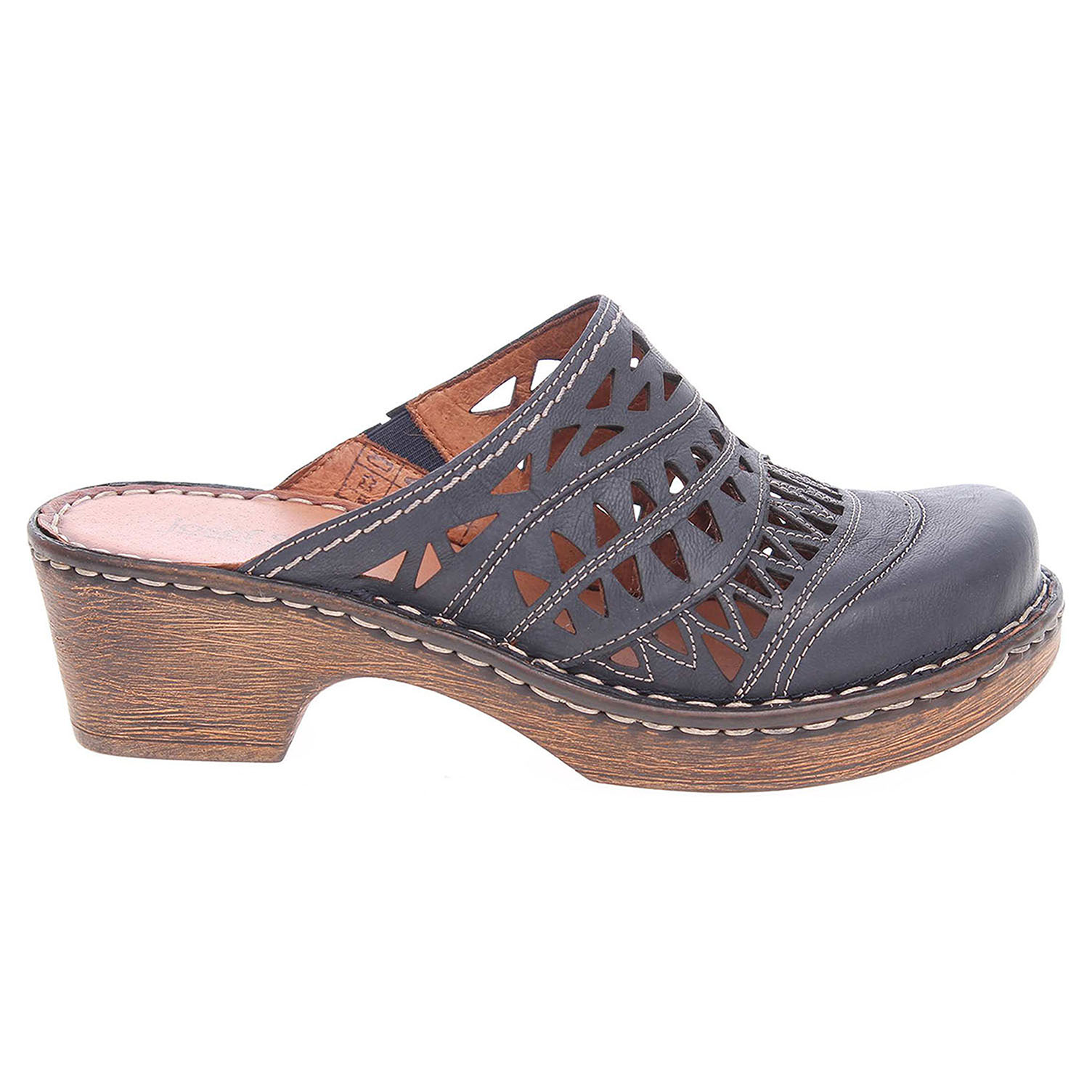 Ecco Josef Seibel dámské pantofle 62949 720530 modré 23600810