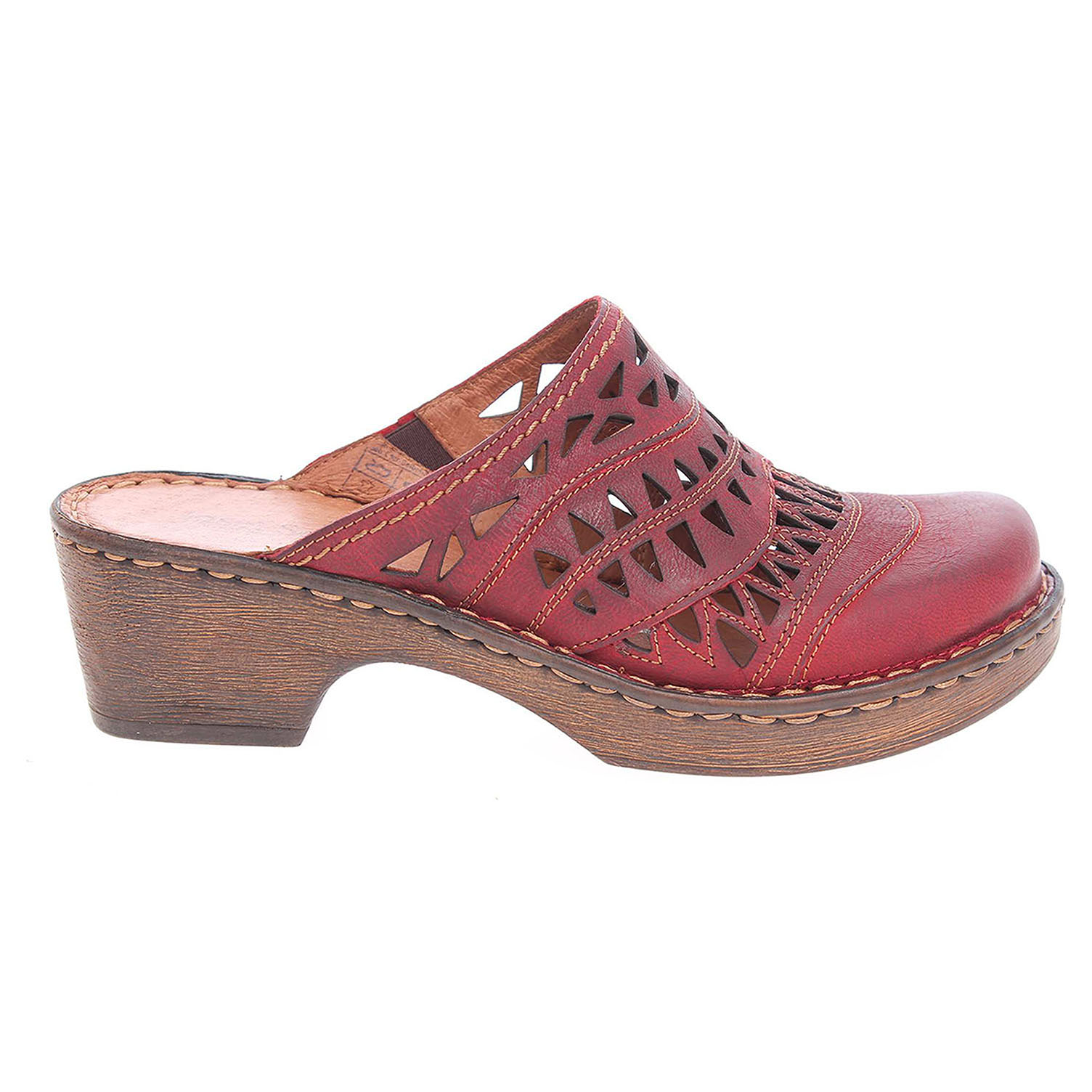 Ecco Josef Seibel dámské pantofle 62949 720400 červené 23600811