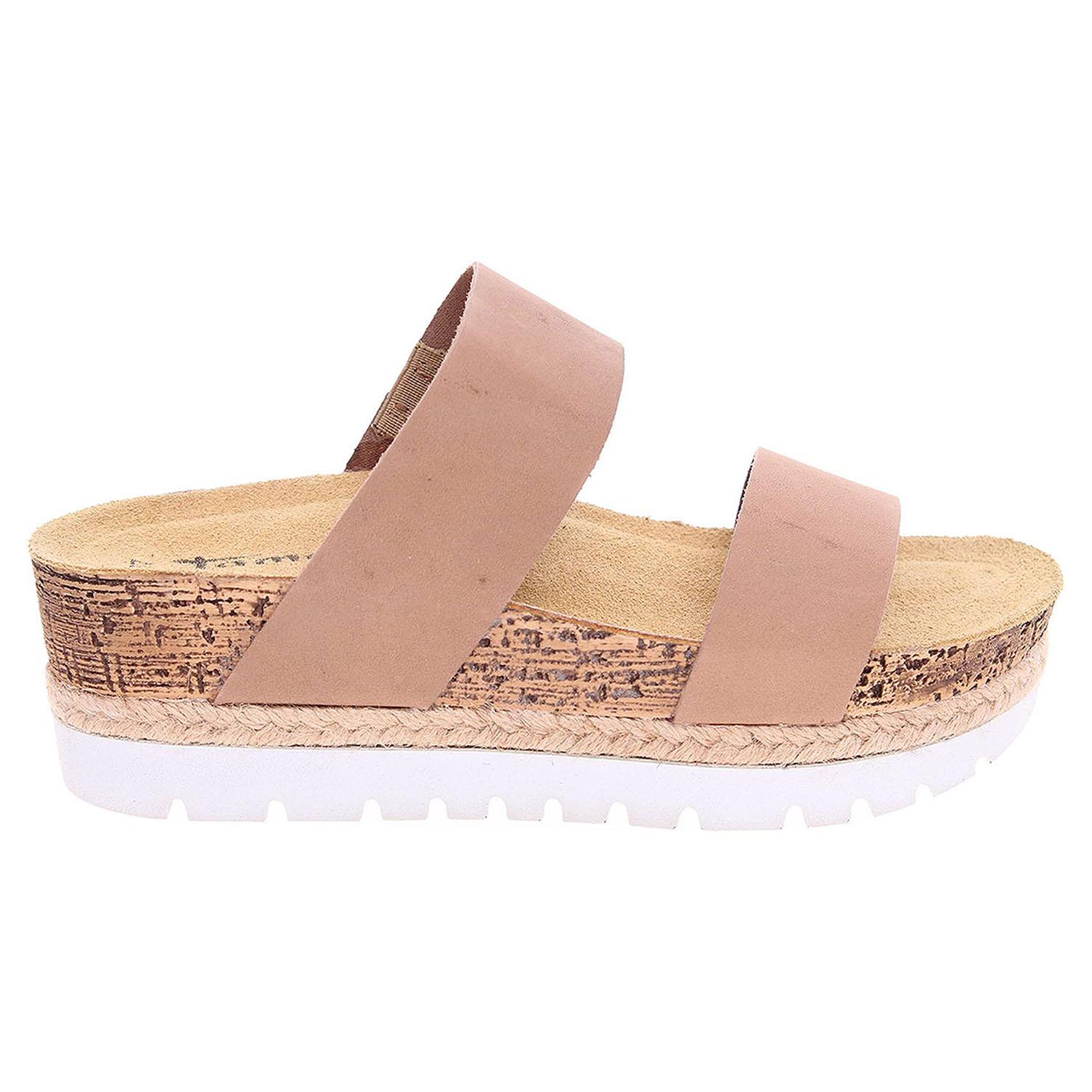 Ecco Tamaris dámské pantofle 1-27215-28 béžové 23600813