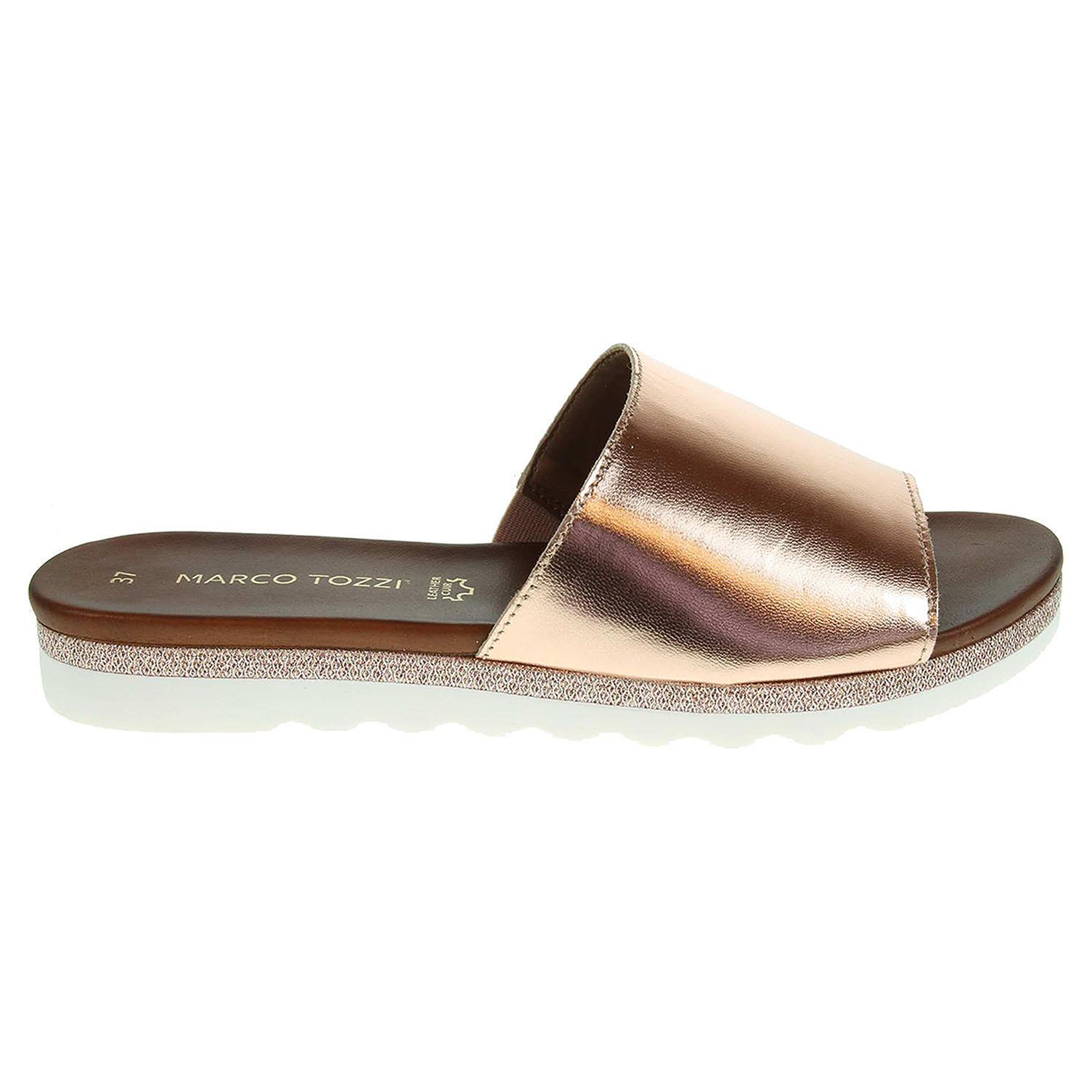 Ecco Marco Tozzi dámské pantofle 2-27115-28 růžové 23600817