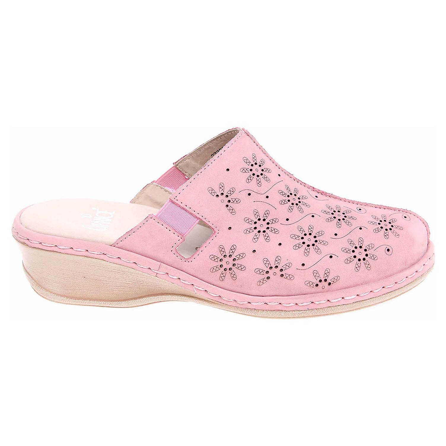 Ecco Caprice dámské pantofle 9-27350-28 růžové 23600818