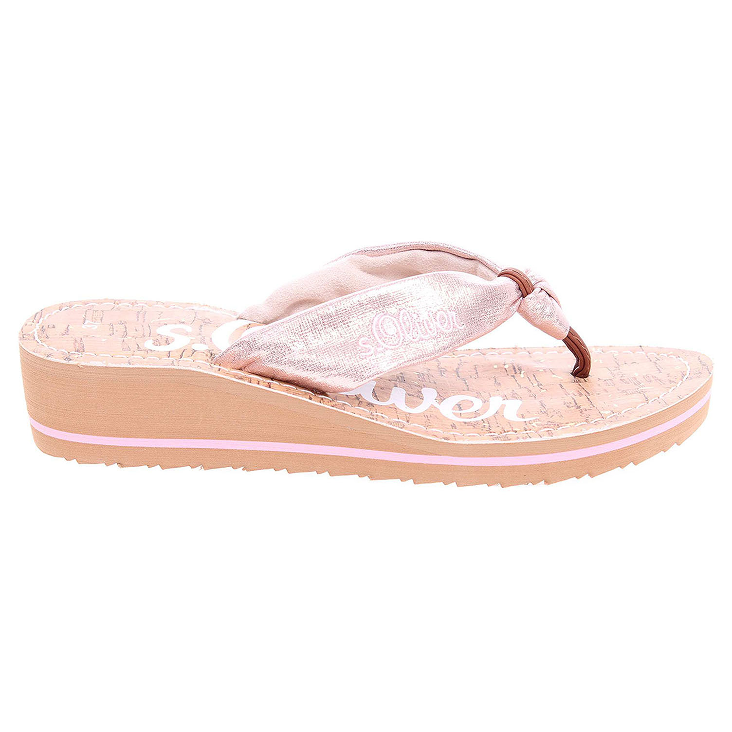 Ecco s.Oliver dámské pantofle 5-27117-38 růžové 23700302