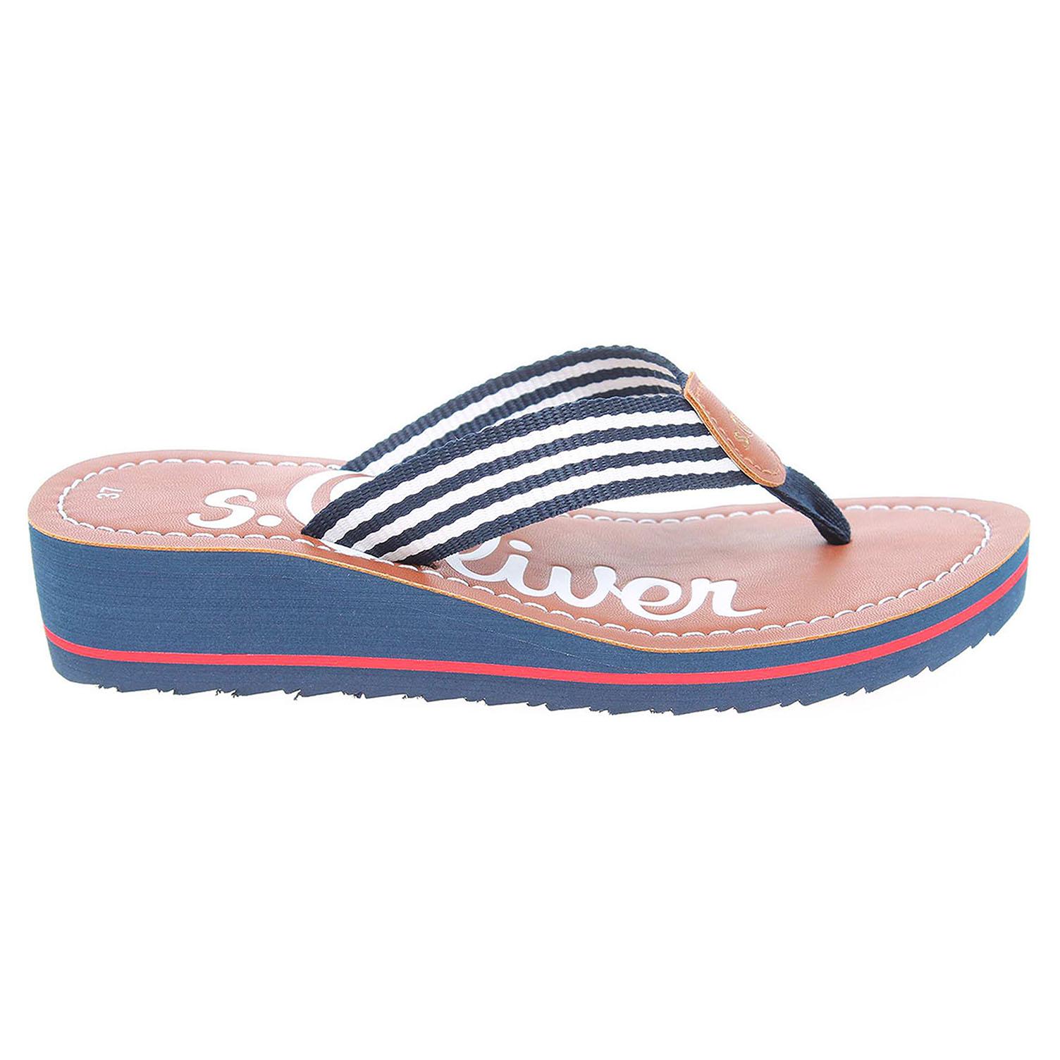 Ecco s.Oliver dámské pantofle 5-27118-38 modré 23700303