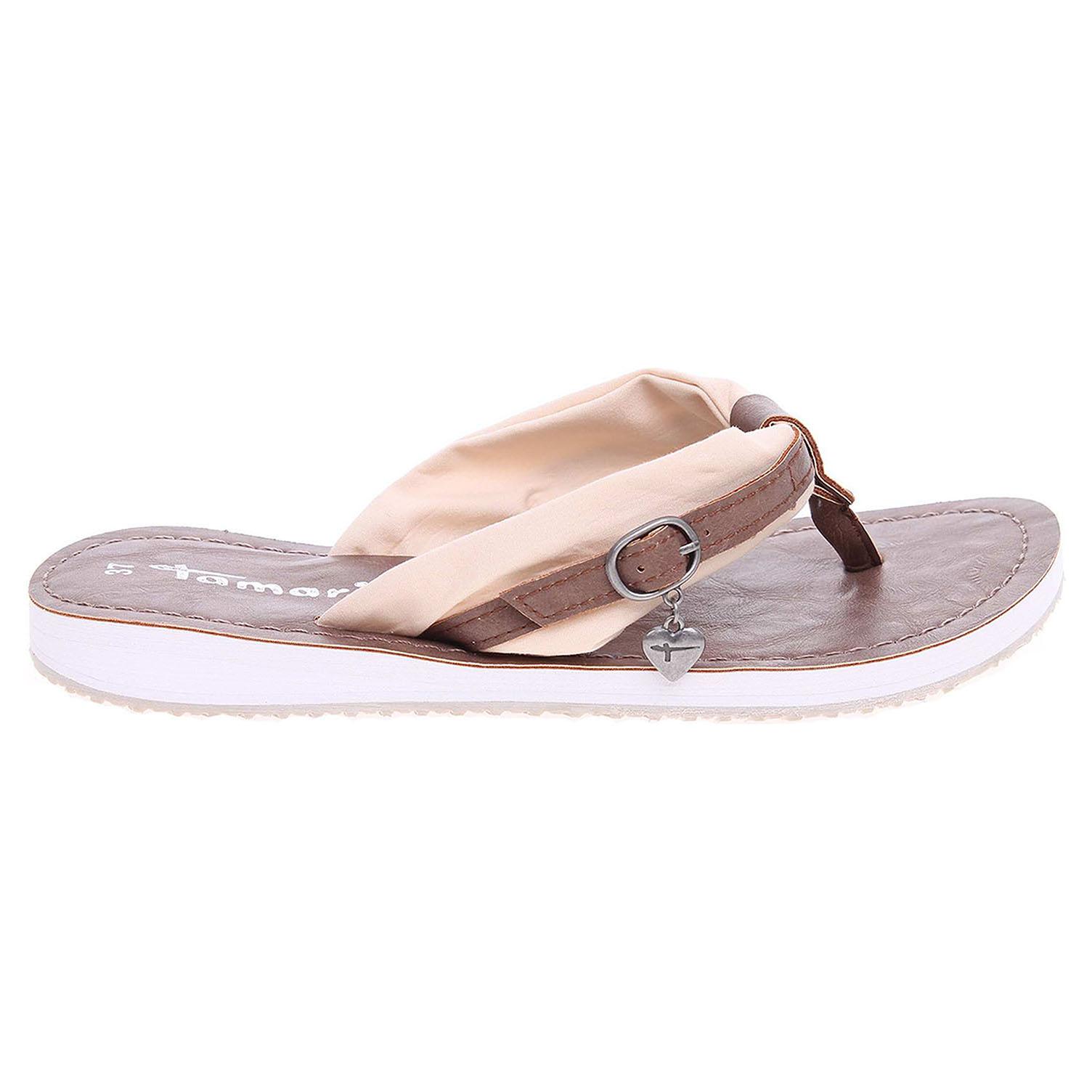 Ecco Tamaris dámské plážové pantofle 1-27109-28 béžové 23700318