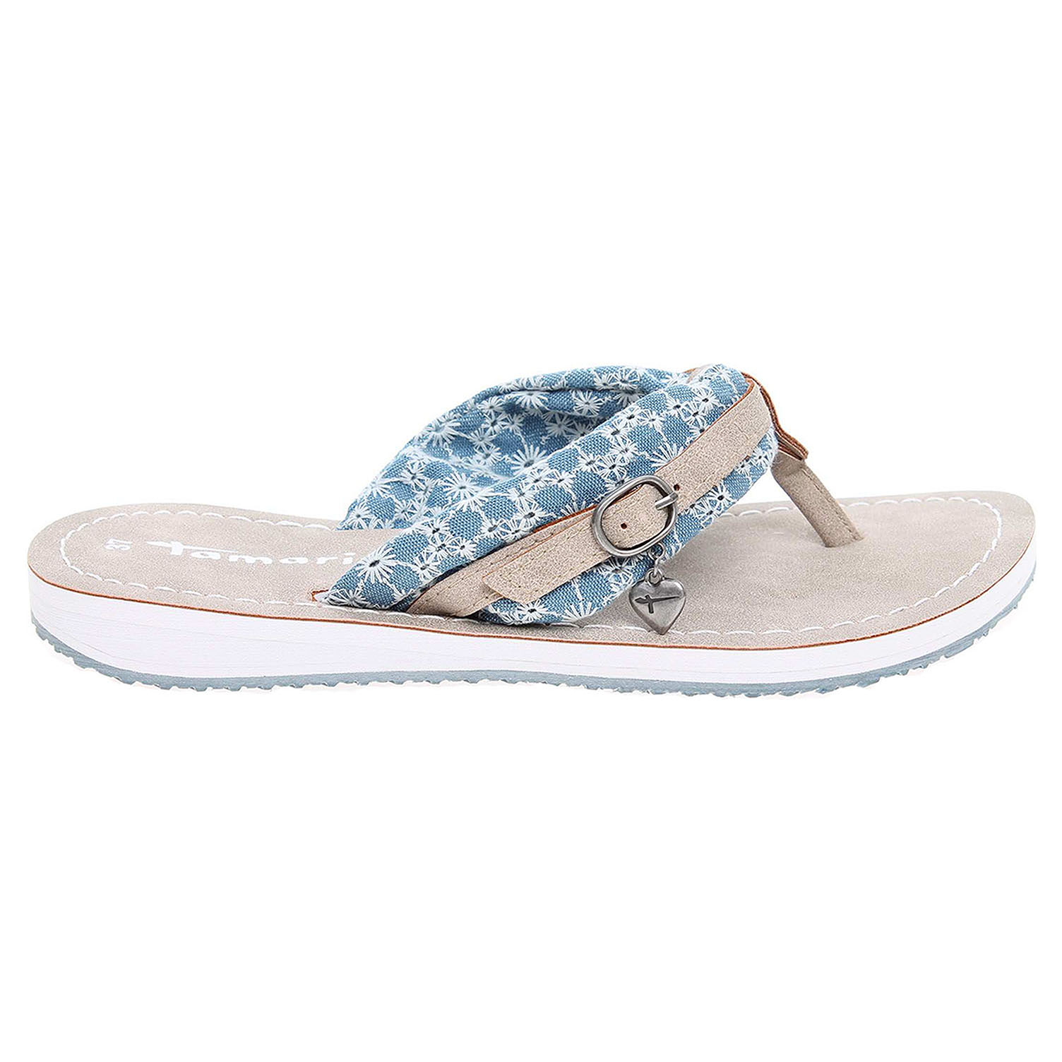 Ecco Tamaris dámské plážové pantofle 1-27109-28 modré 23700319