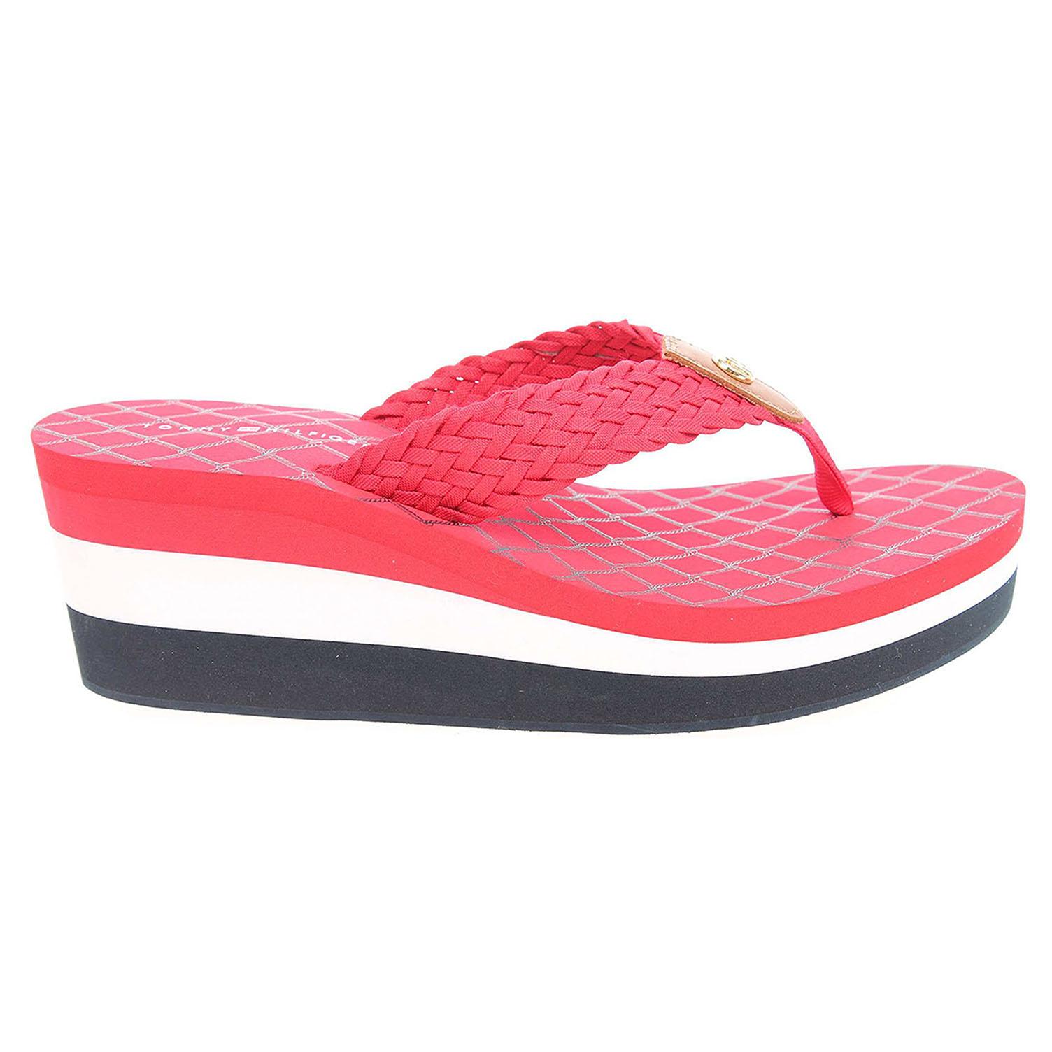 Ecco Tommy Hilfiger dámské pantofle FW0FW00473 M1285ARIAH 3D červené 23700323