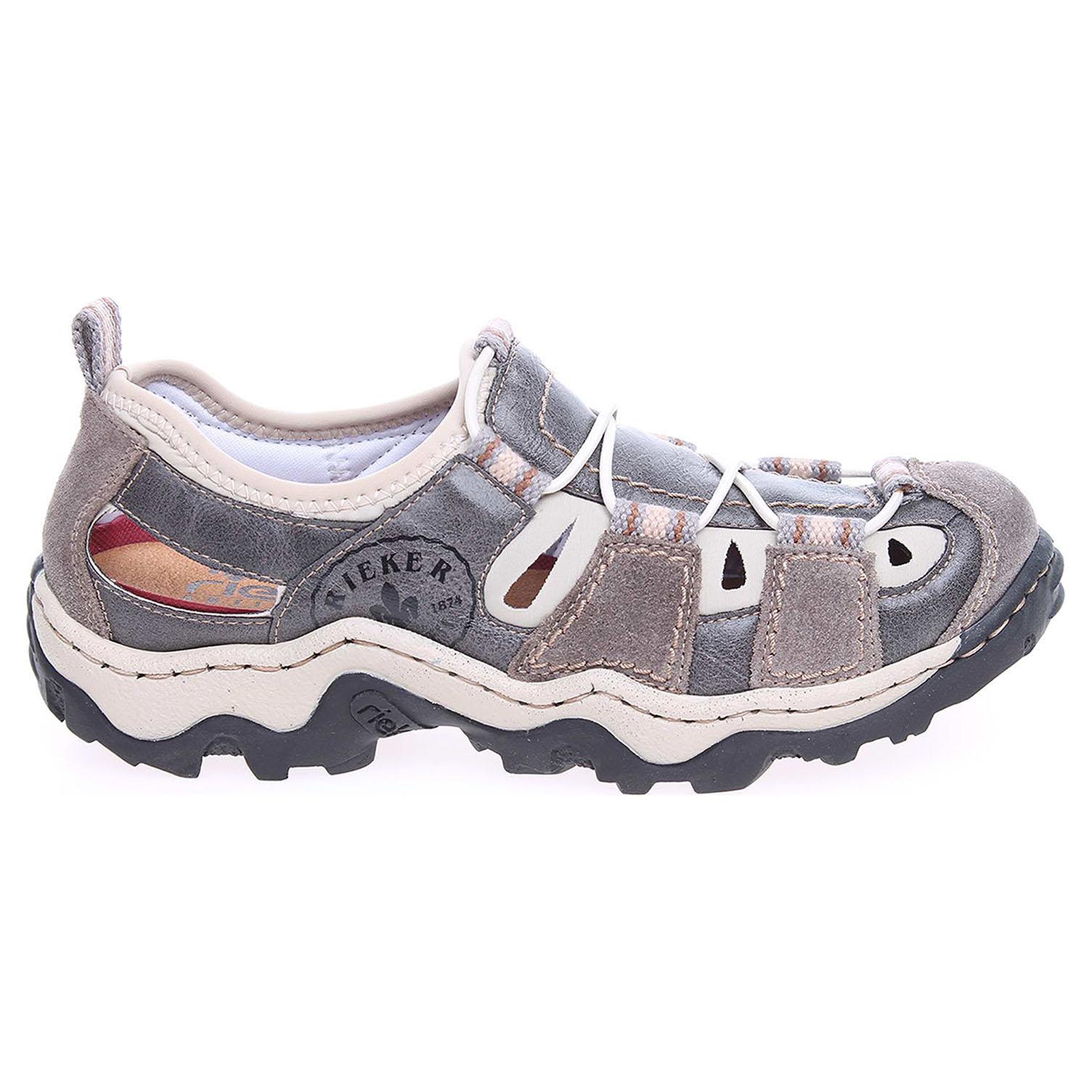 Rieker dámské sandály L0256-42 šedé 41