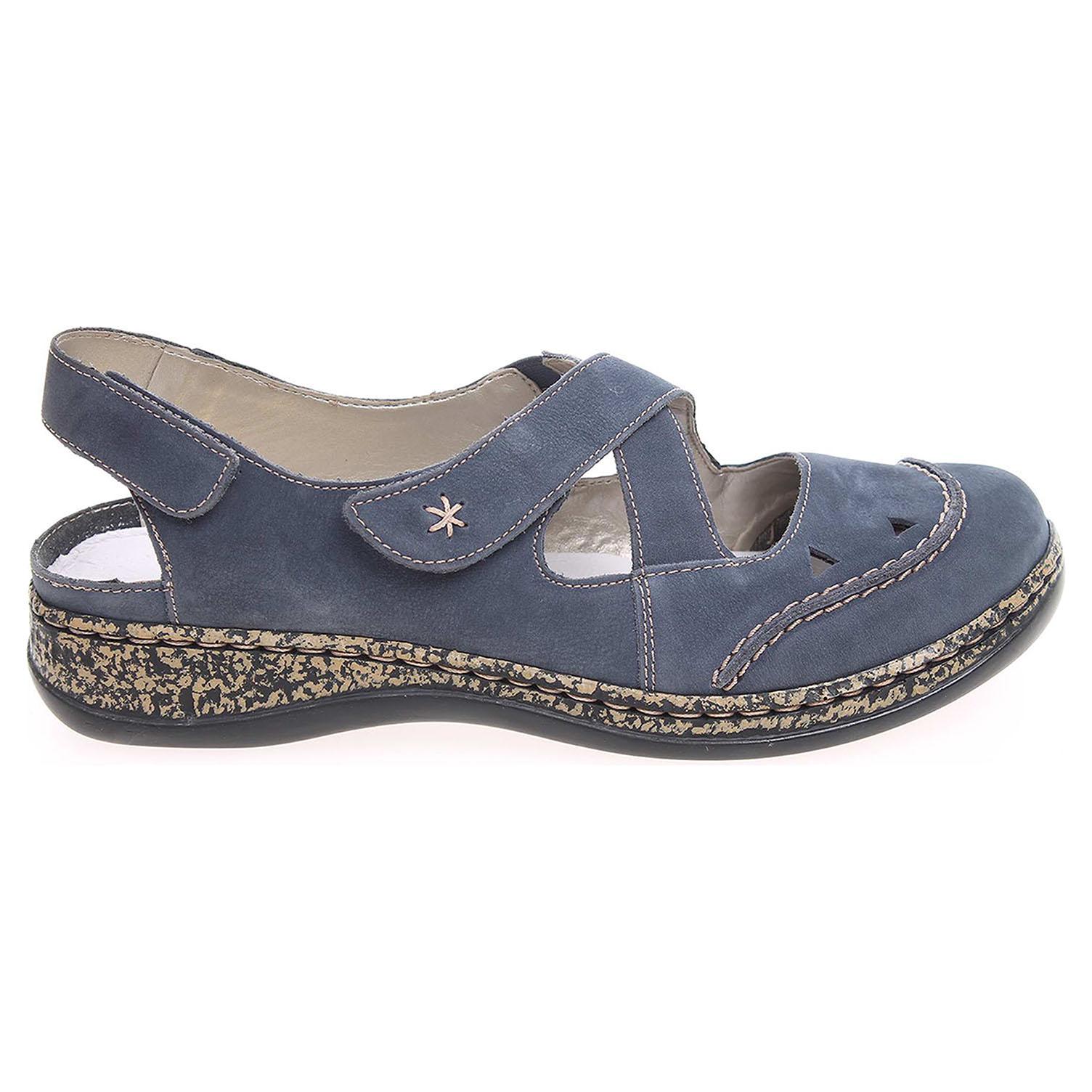 Rieker sandály dámské 46379-14 modré 37