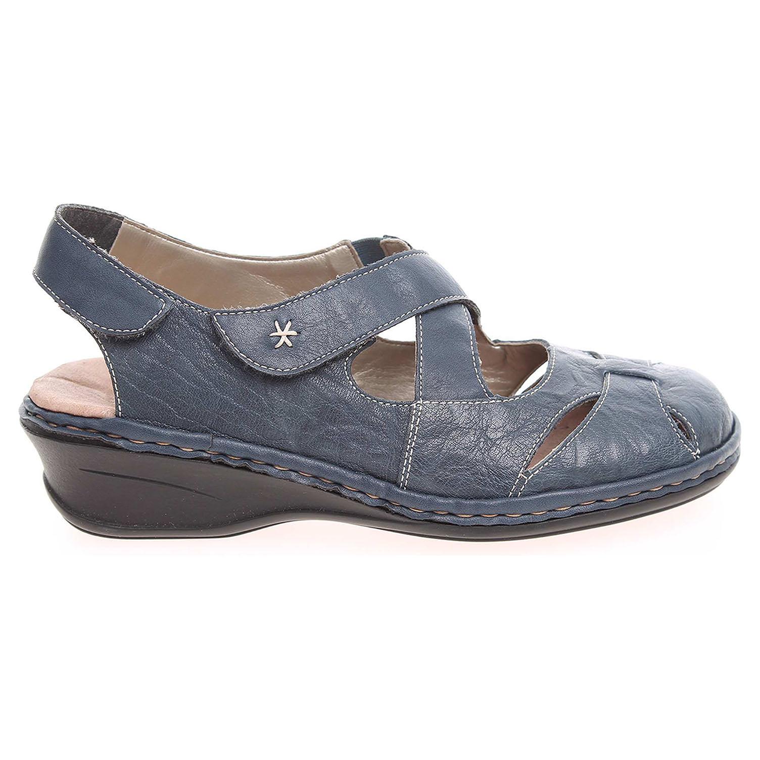 Rieker dámské sandály 66259-14 modré 37