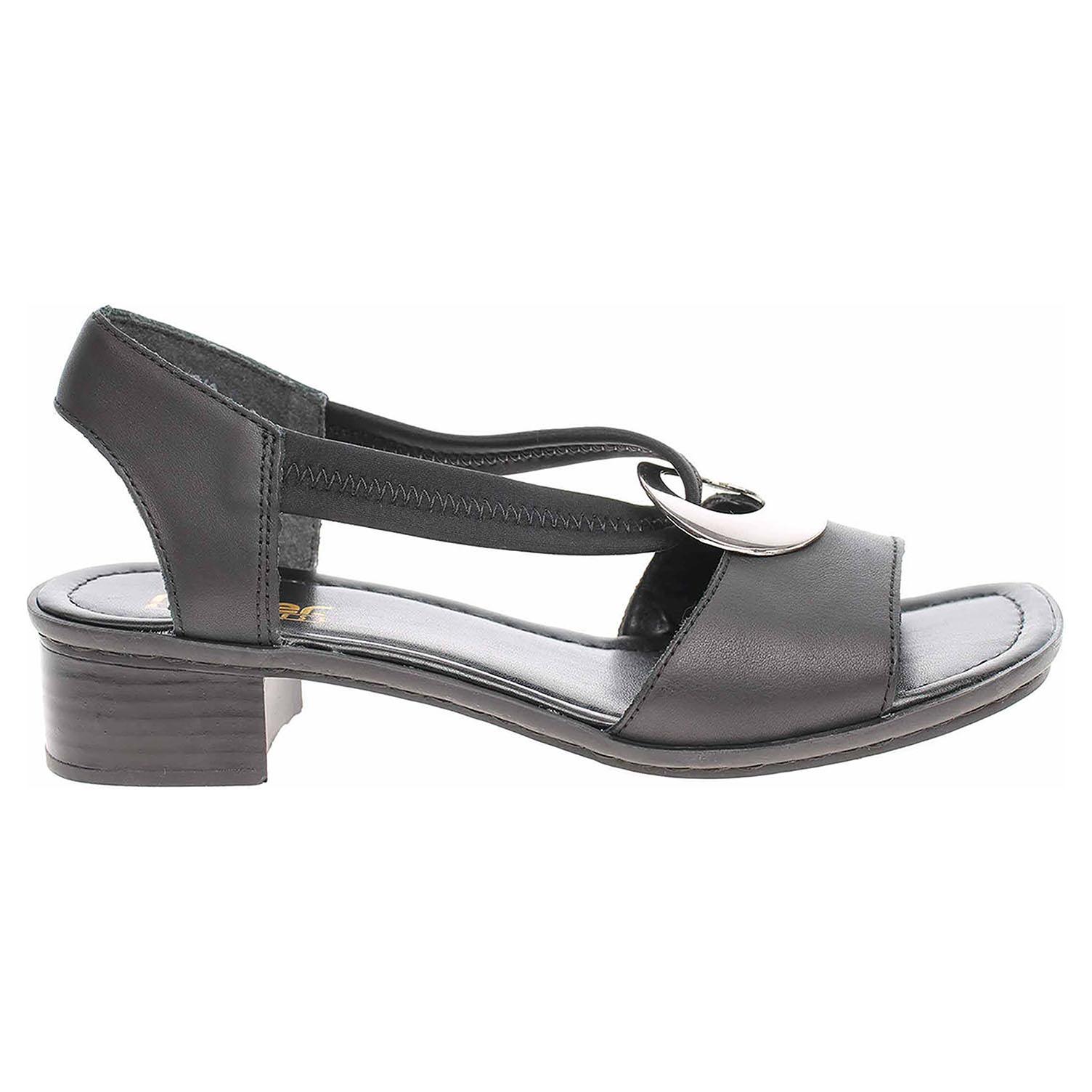 Rieker dámské sandály 62662-01 černé 40