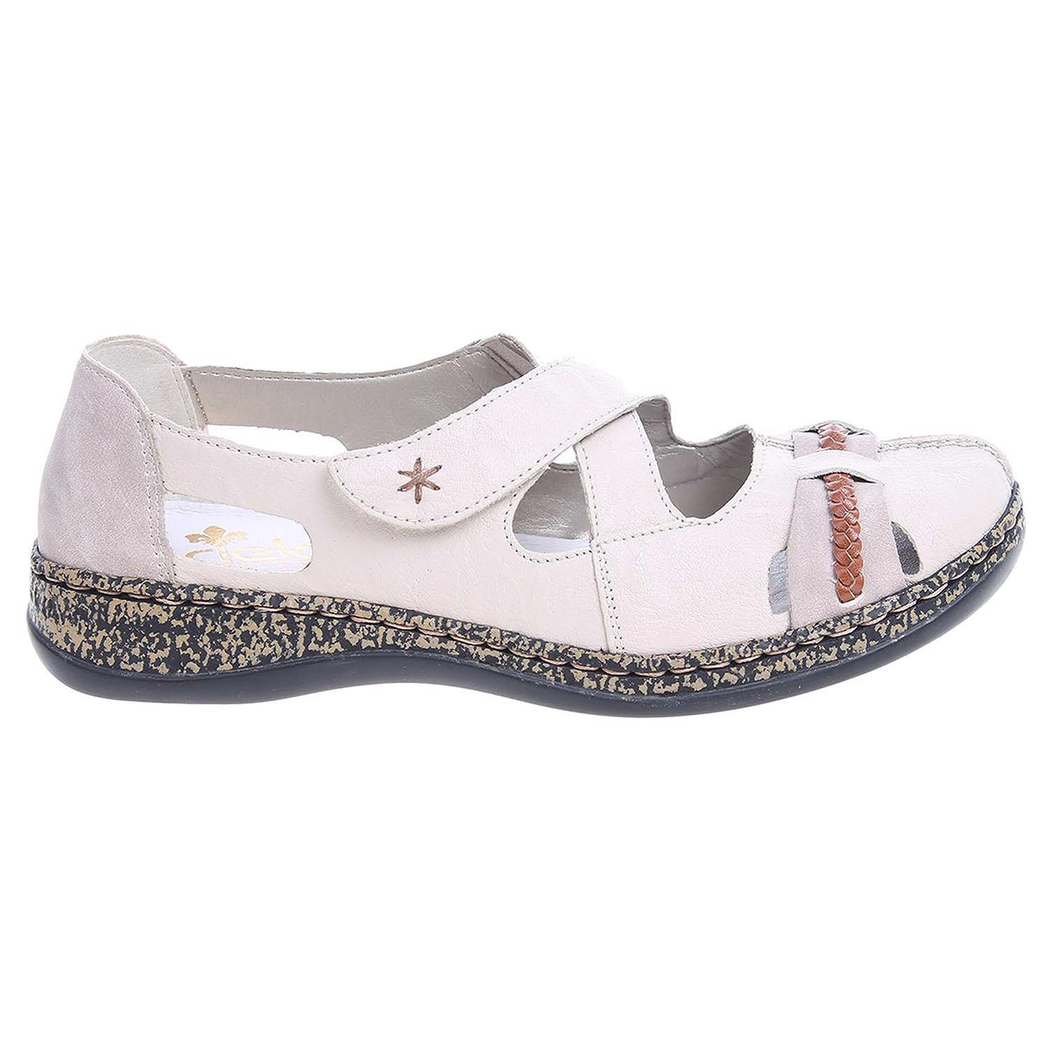 Ecco Rieker dámské sandály 46352-60 béžové 23800873