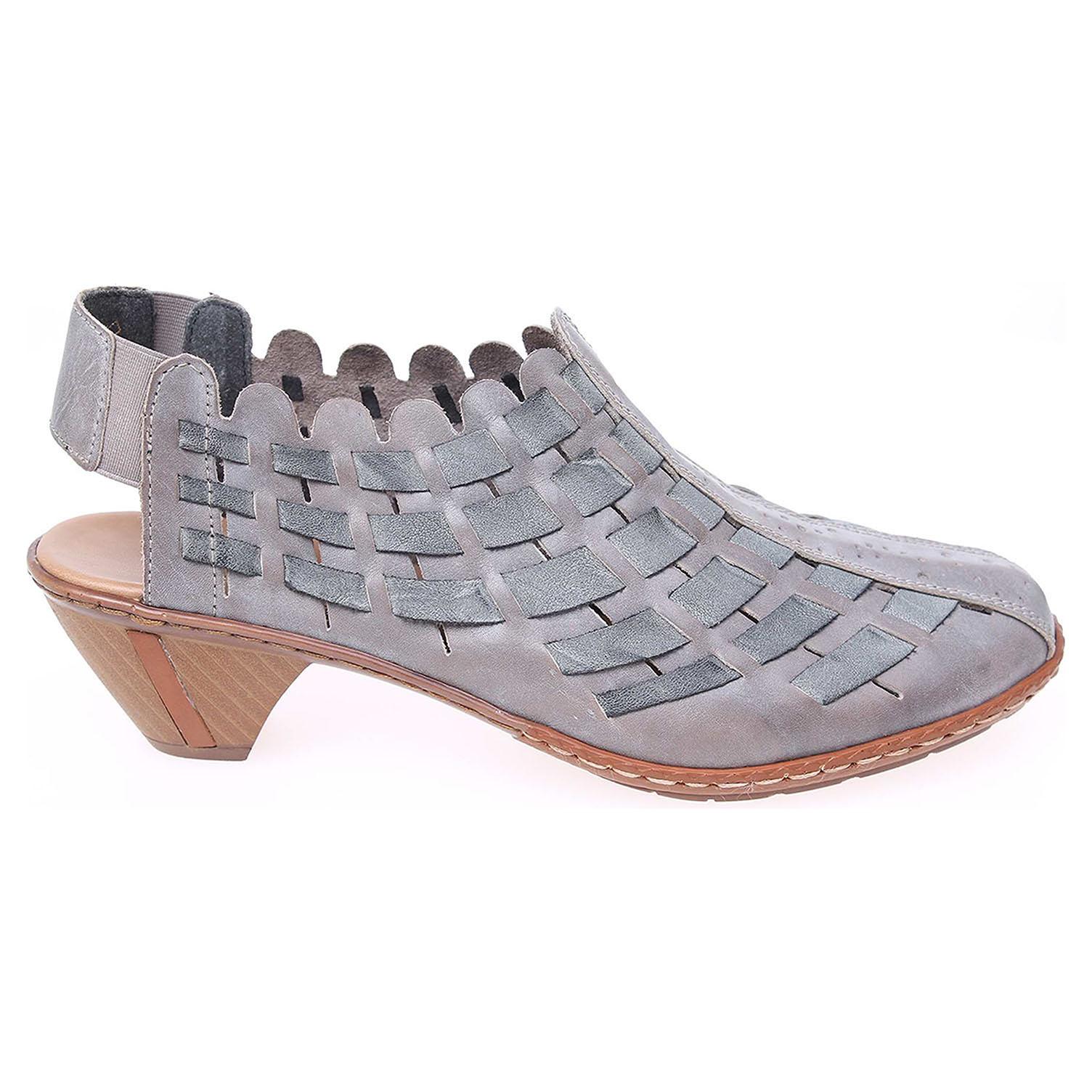 Rieker dámské sandály 46778-40 šedé 39