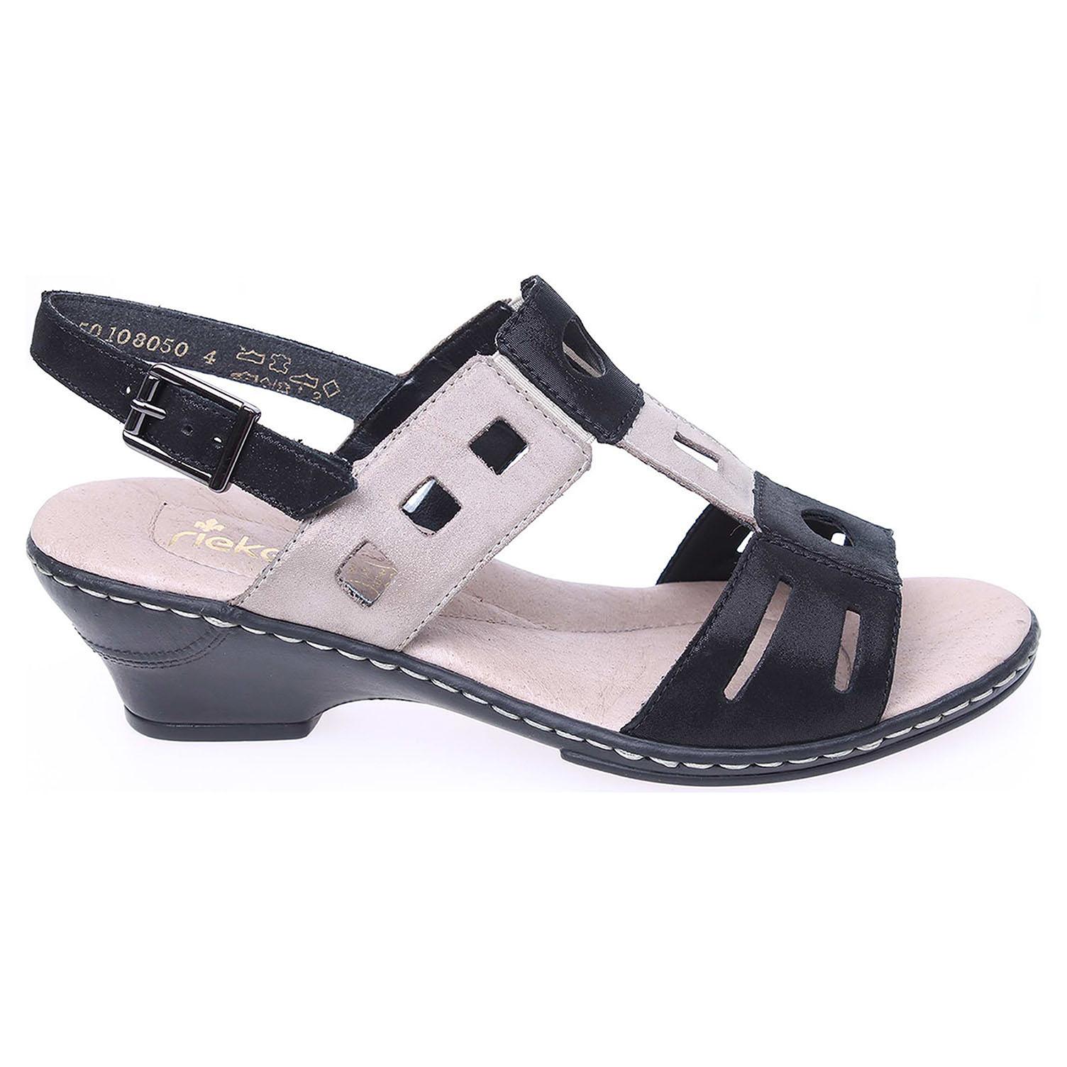 Rieker dámské sandály 62169-00 černé 37