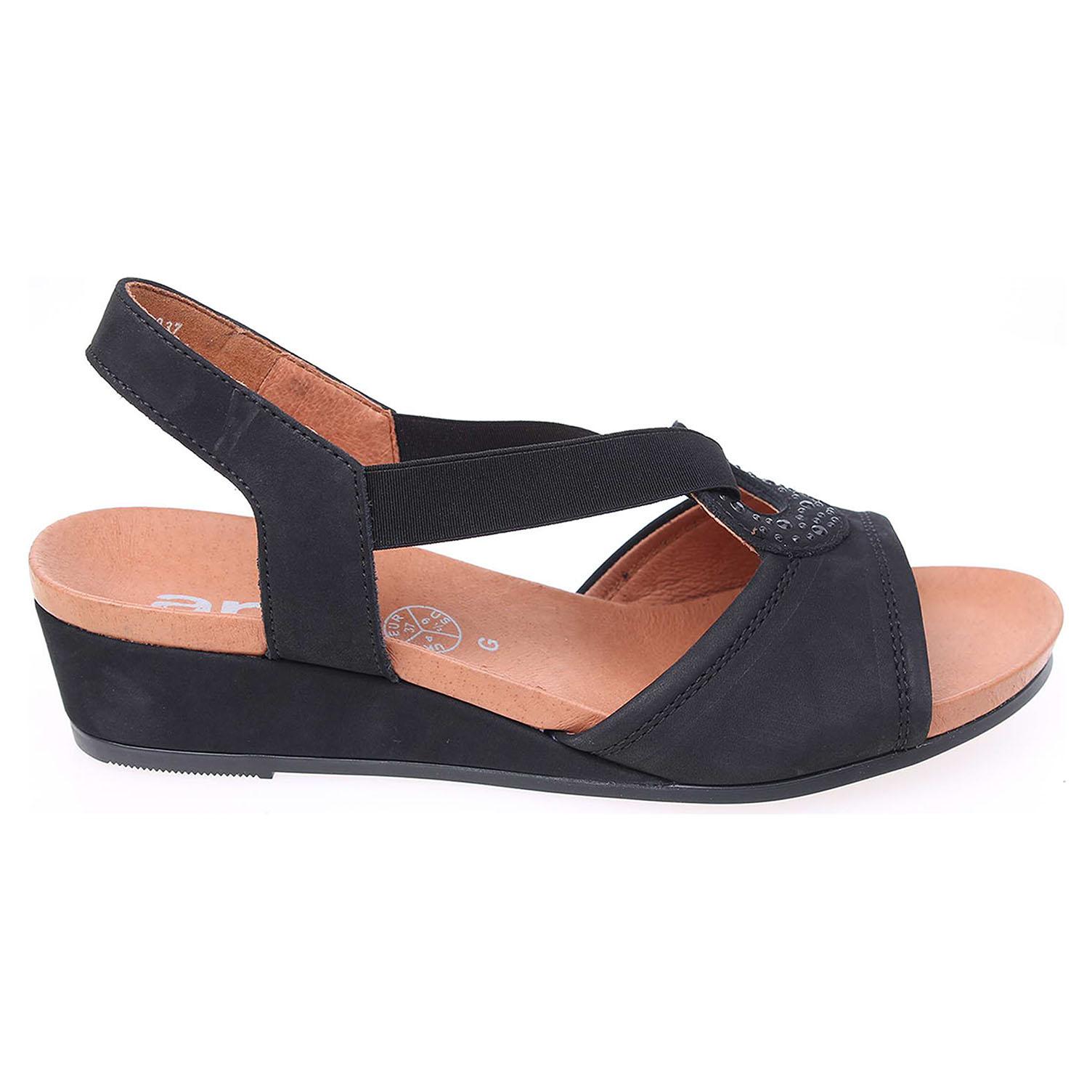 Ecco Ara dámské sandály 34113 černé 23800906