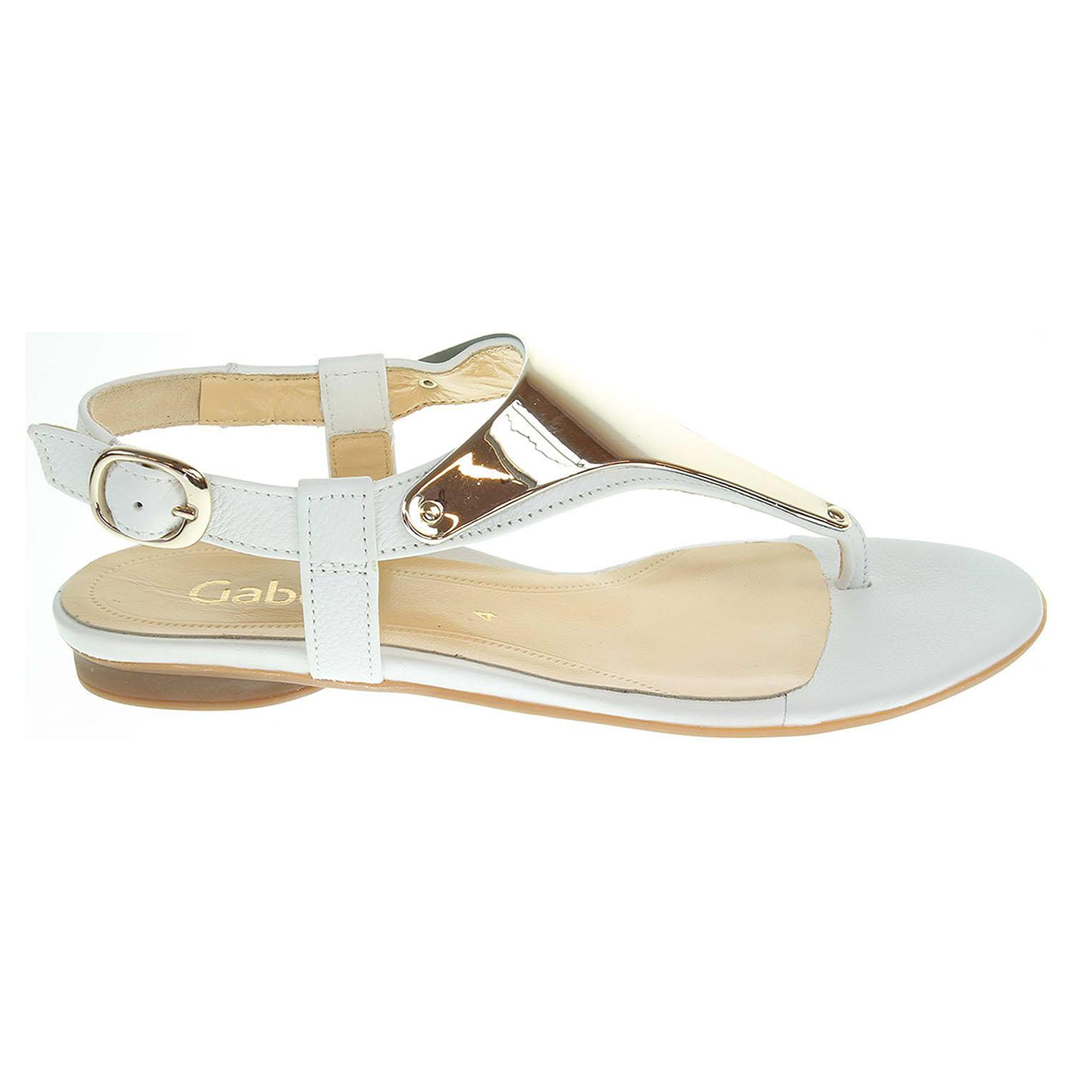 Ecco Gabor dámské sandály 25.532.21 bílé 23800916