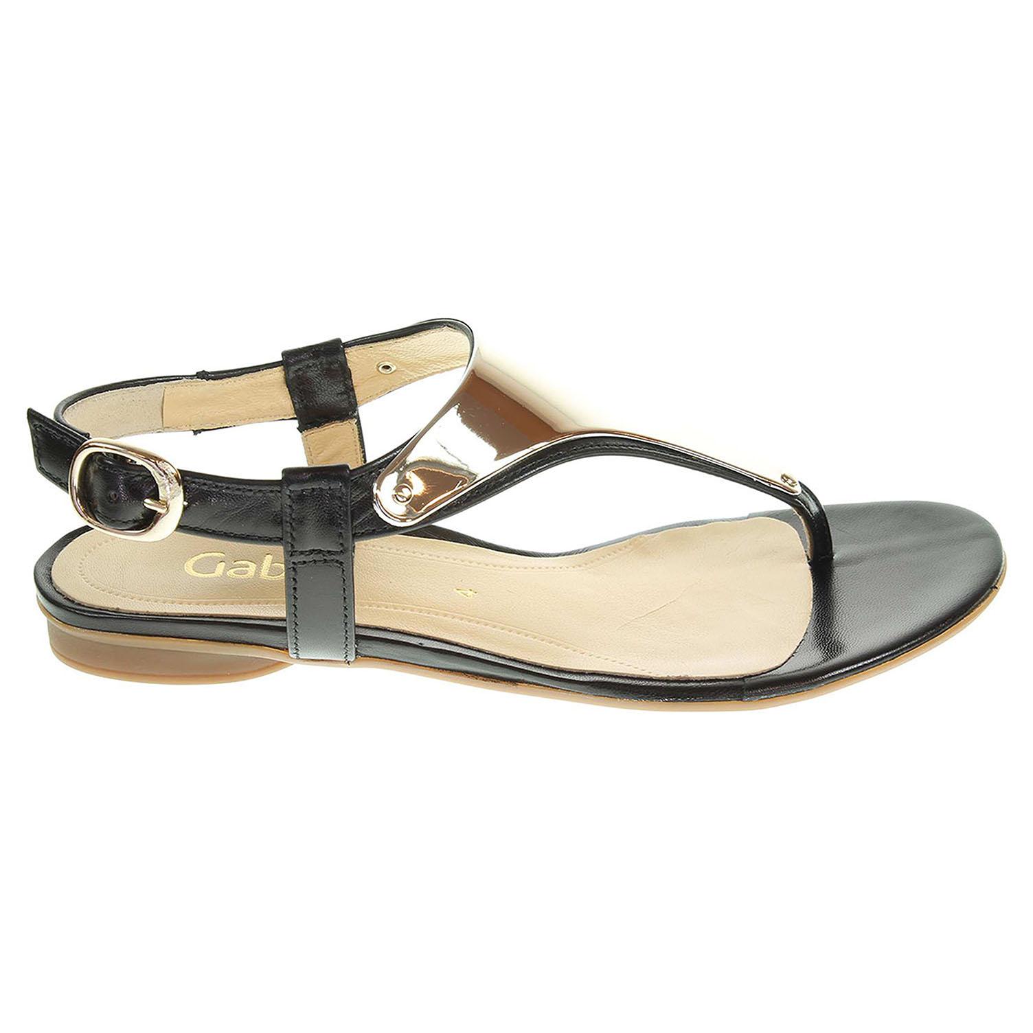 Ecco Gabor dámské sandály 25.532.37 černé 23800923