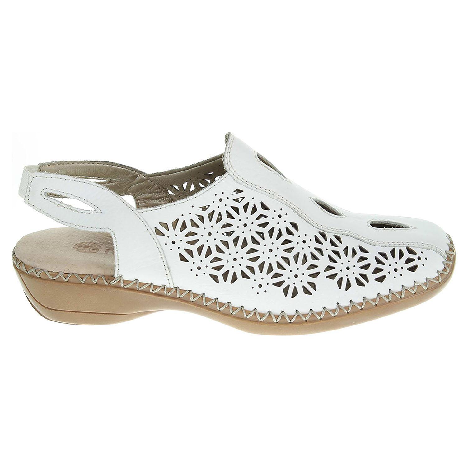 Remonte dámské sandály D1626-80 bílé 38